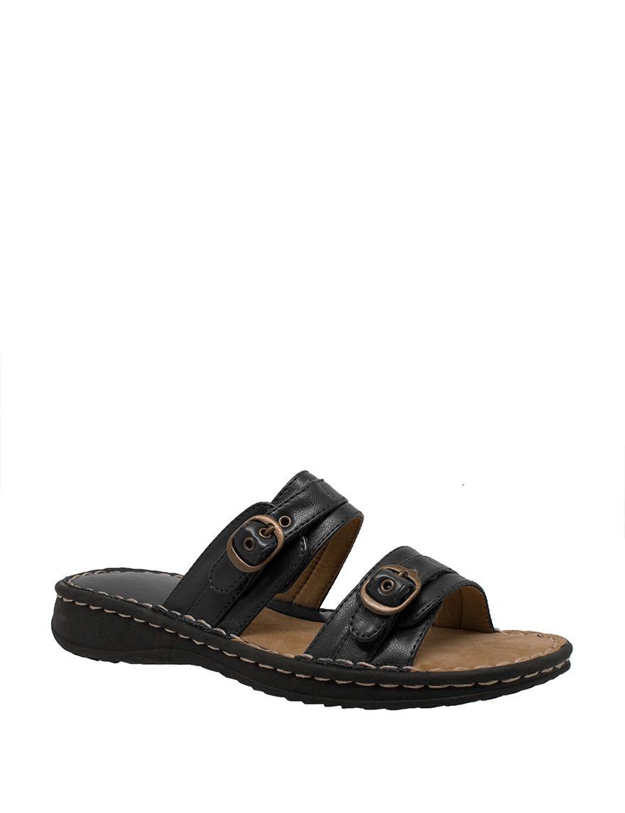 Shaboom Black Slide Sandals