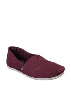 Skechers Burgundy Slipper Shoes