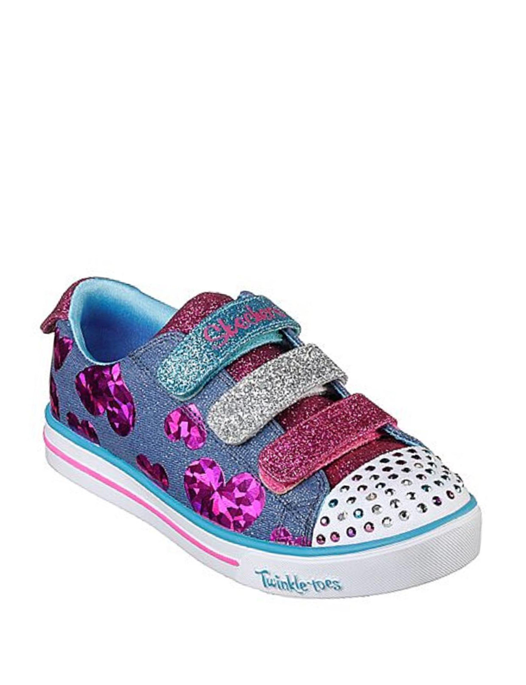 67a3f7ba8366 Skechers Twinkle Toes Sparkle Lite Flutter Fab Light-Up Shoes - Girls 11-3
