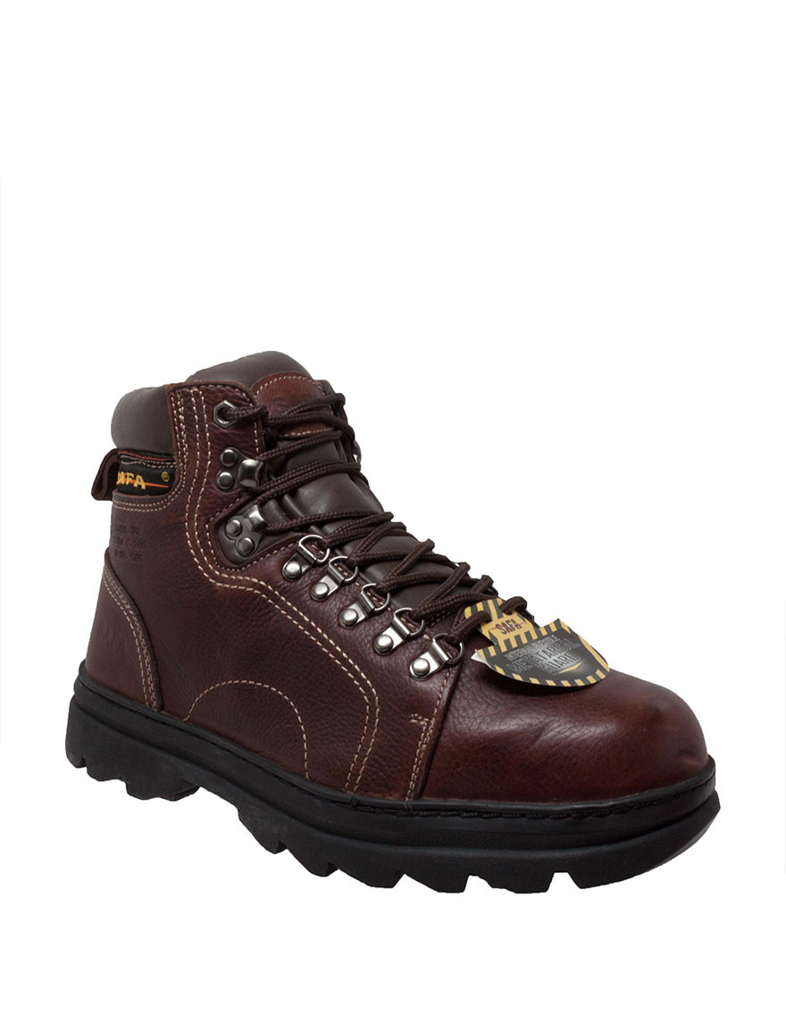 SAFA Brown Steel Toe