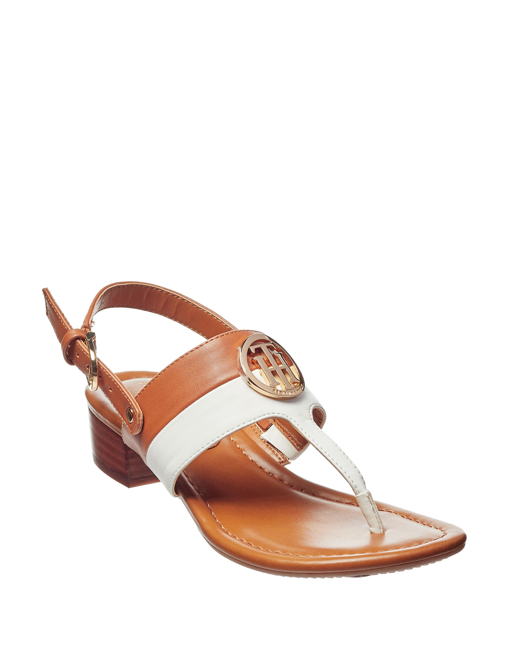 Tommy Hilfiger Beige Heeled Sandals