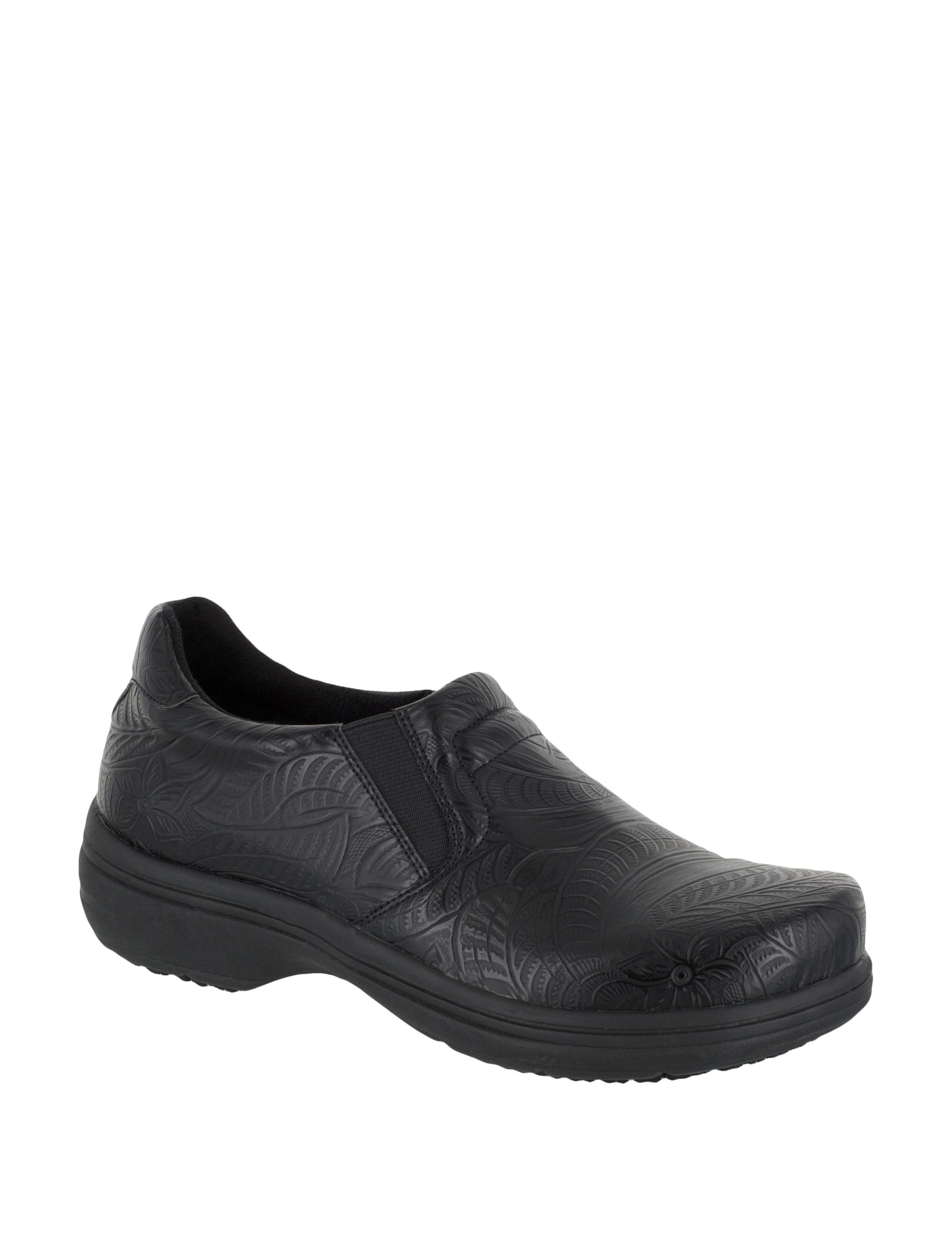 Easy Works by Easy Street Black Clogs Slip Resistant