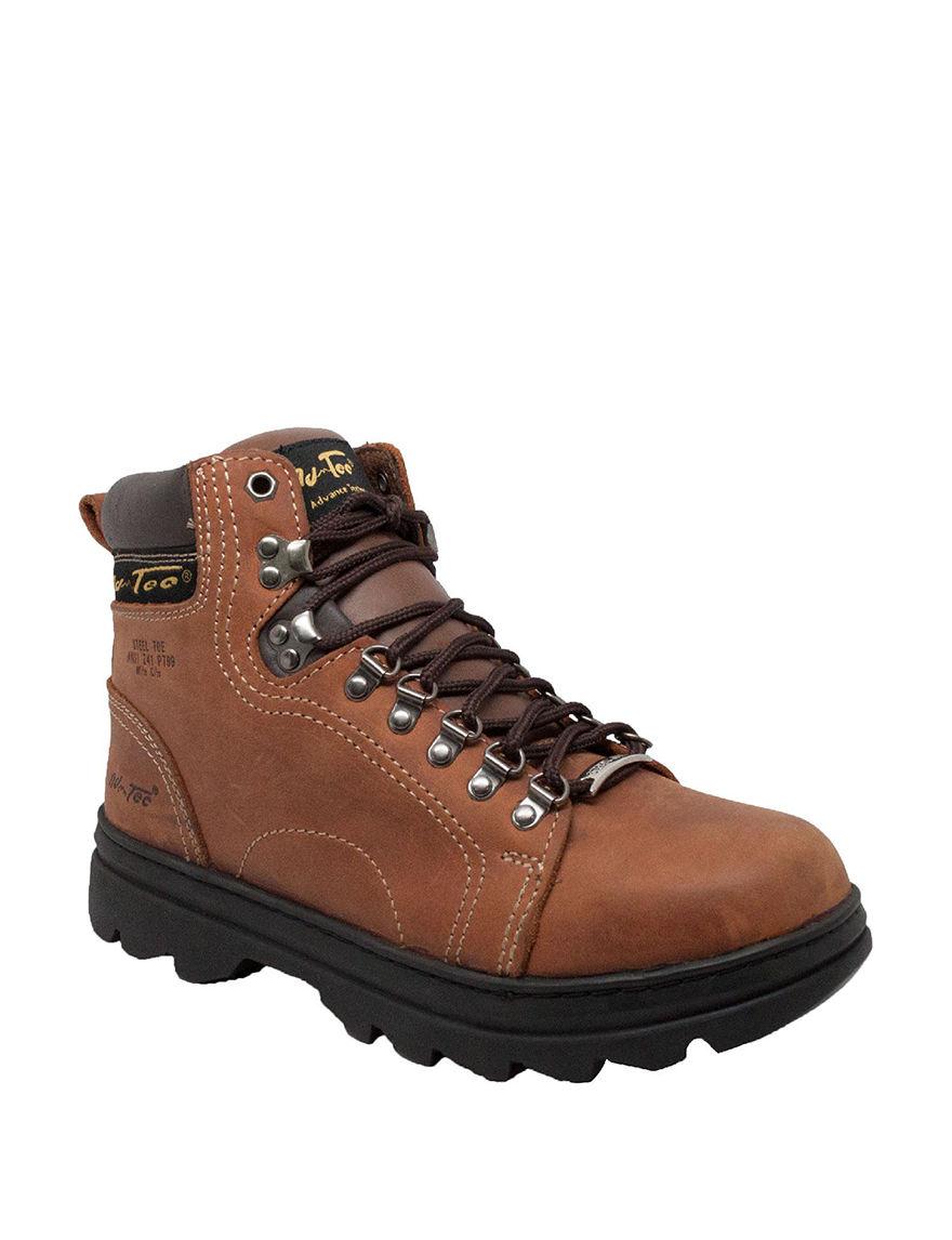 Adtec Brown Hiking Boots Steel Toe
