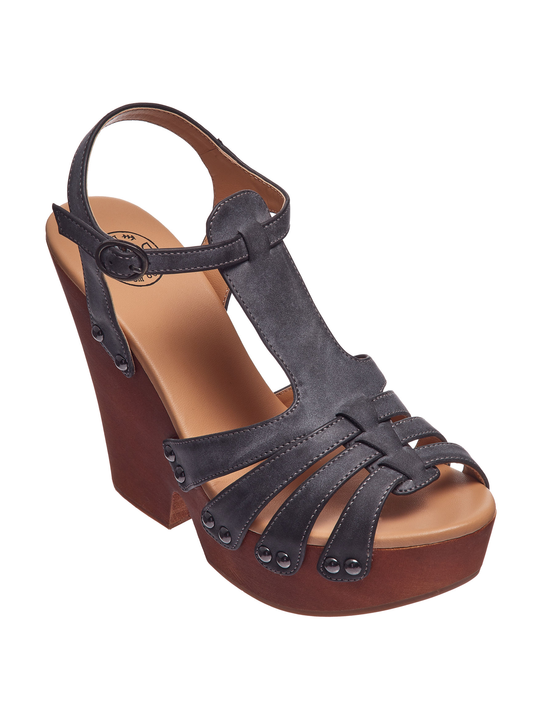Dolce by Mojo Moxy Black Heeled Sandals