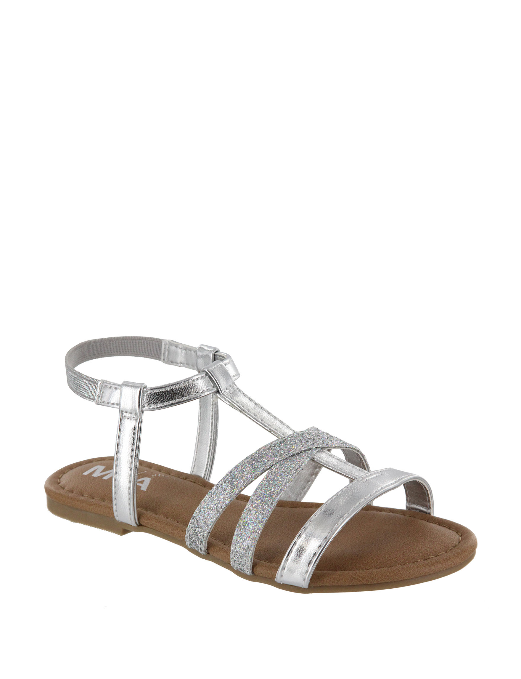 MIA Silver Flat Sandals