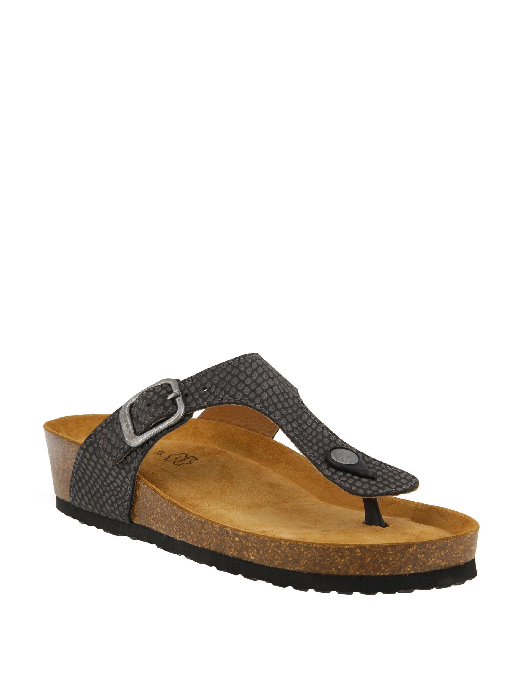Spring Step Black Slide Sandals