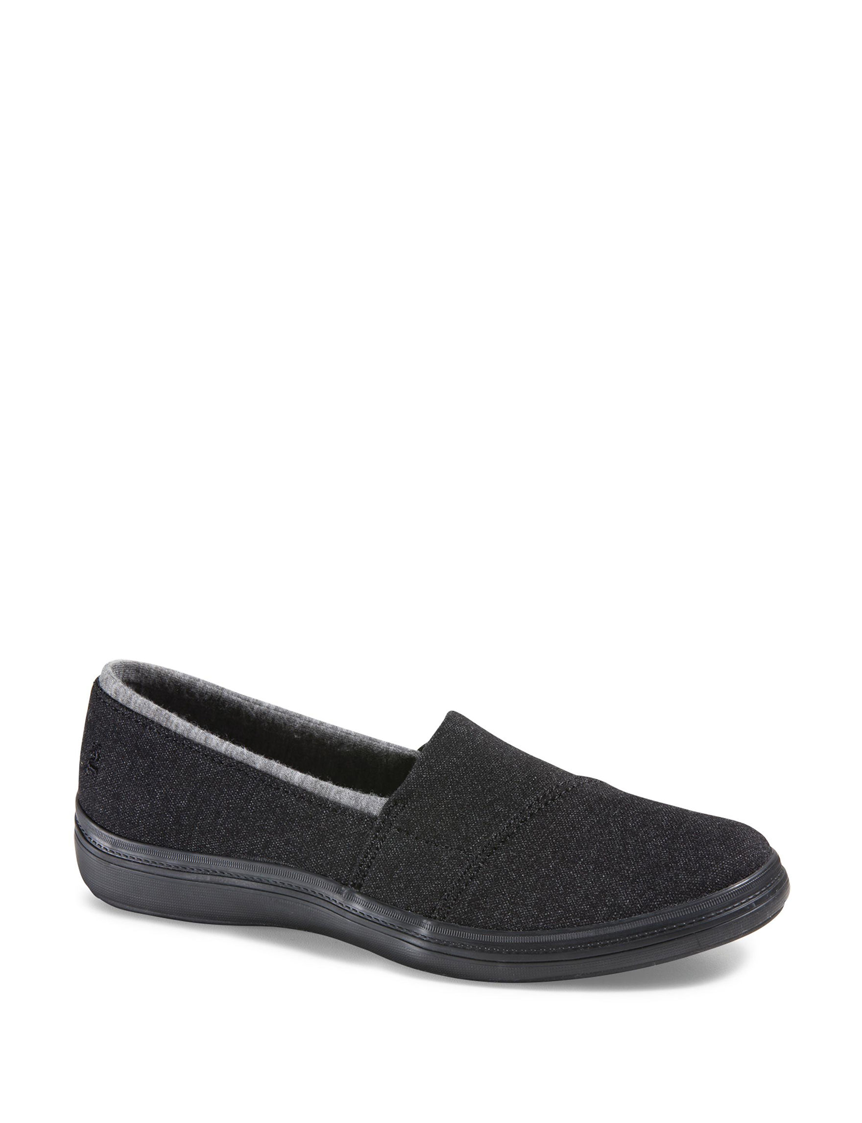 Grasshoppers Black Comfort Shoes