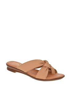 Italian Shoemakers Nude Comfort Shoes Flat Sandals
