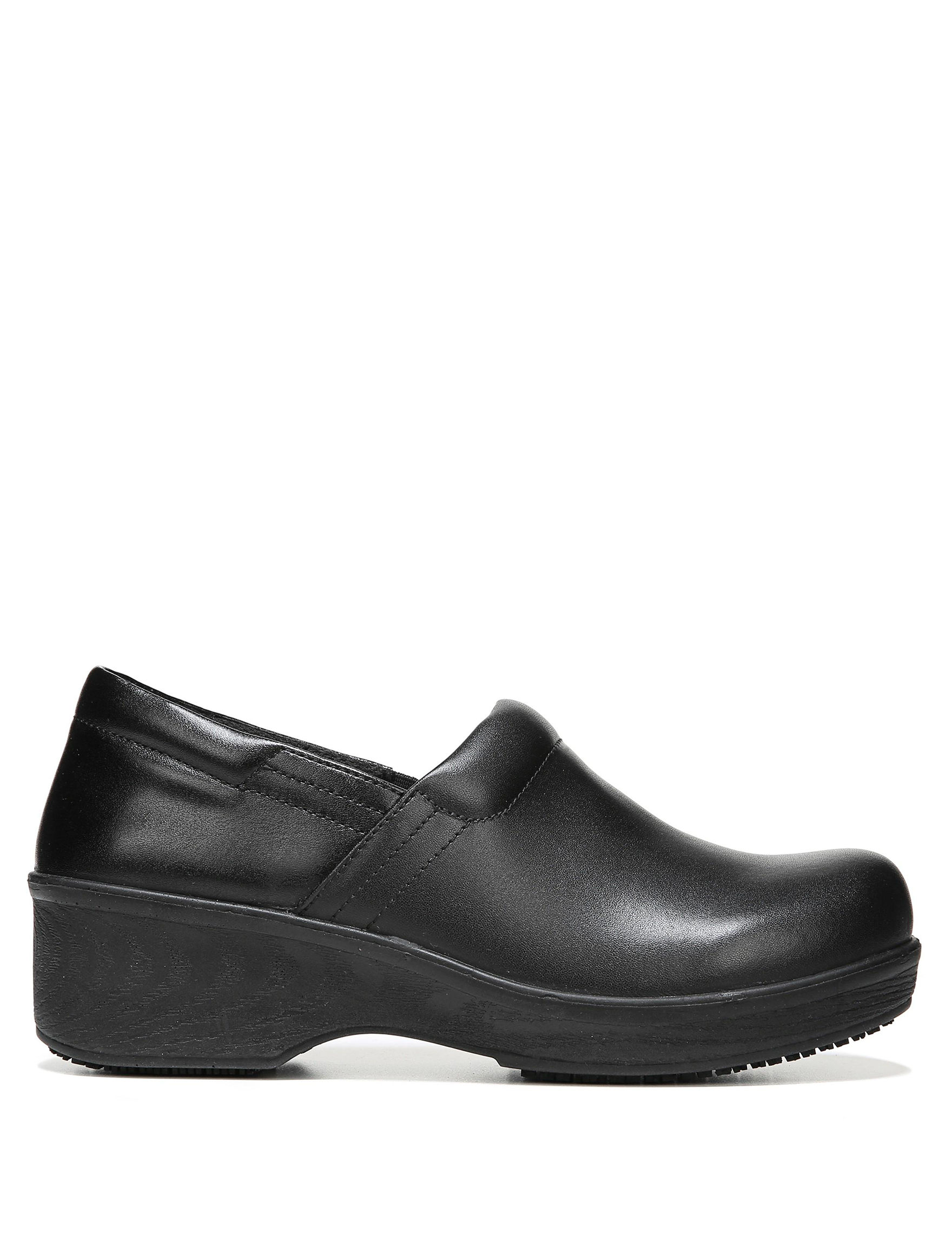 Dr. Scholl's Black Clogs Comfort Stretch