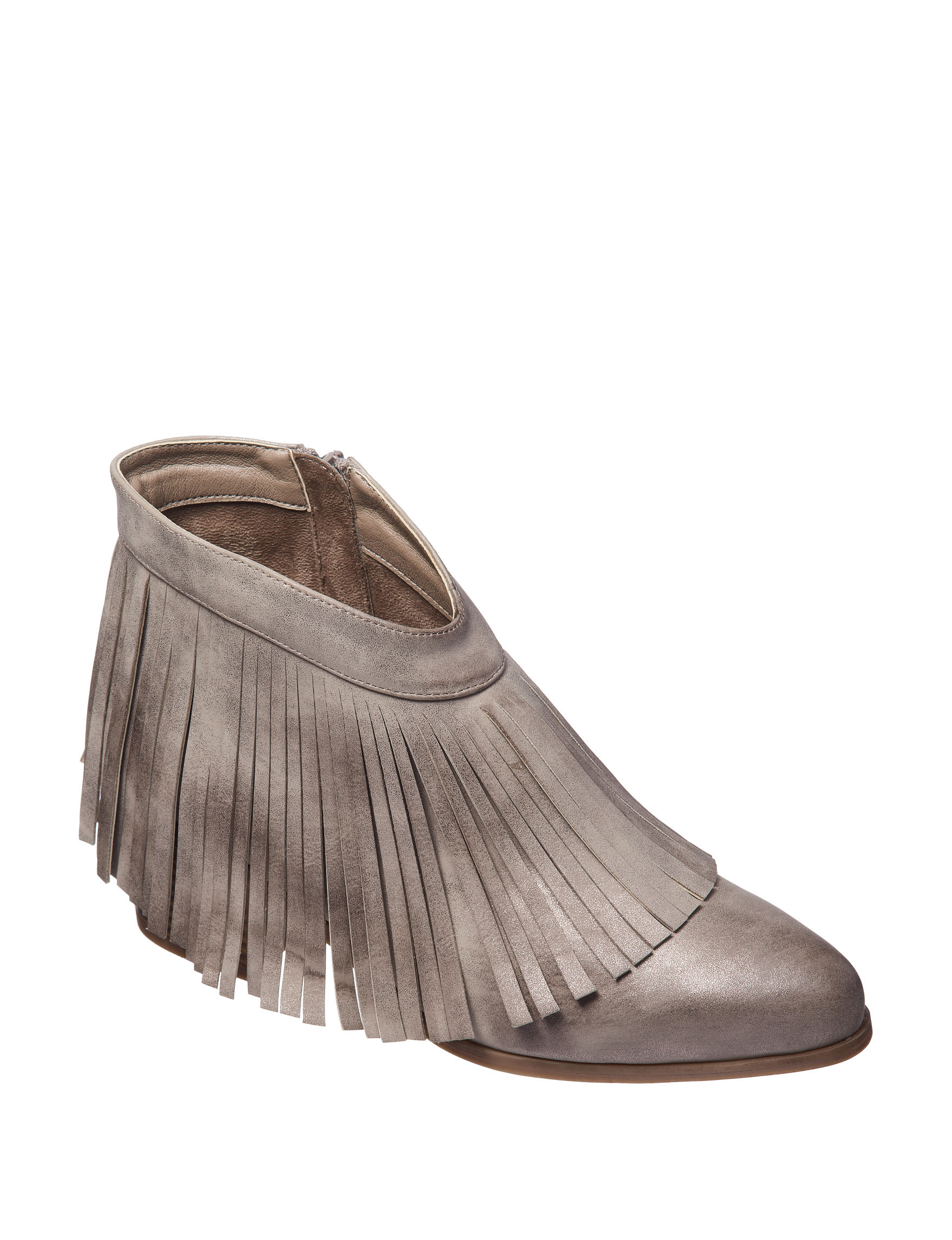 London Rag Metallic Grey Ankle Boots & Booties