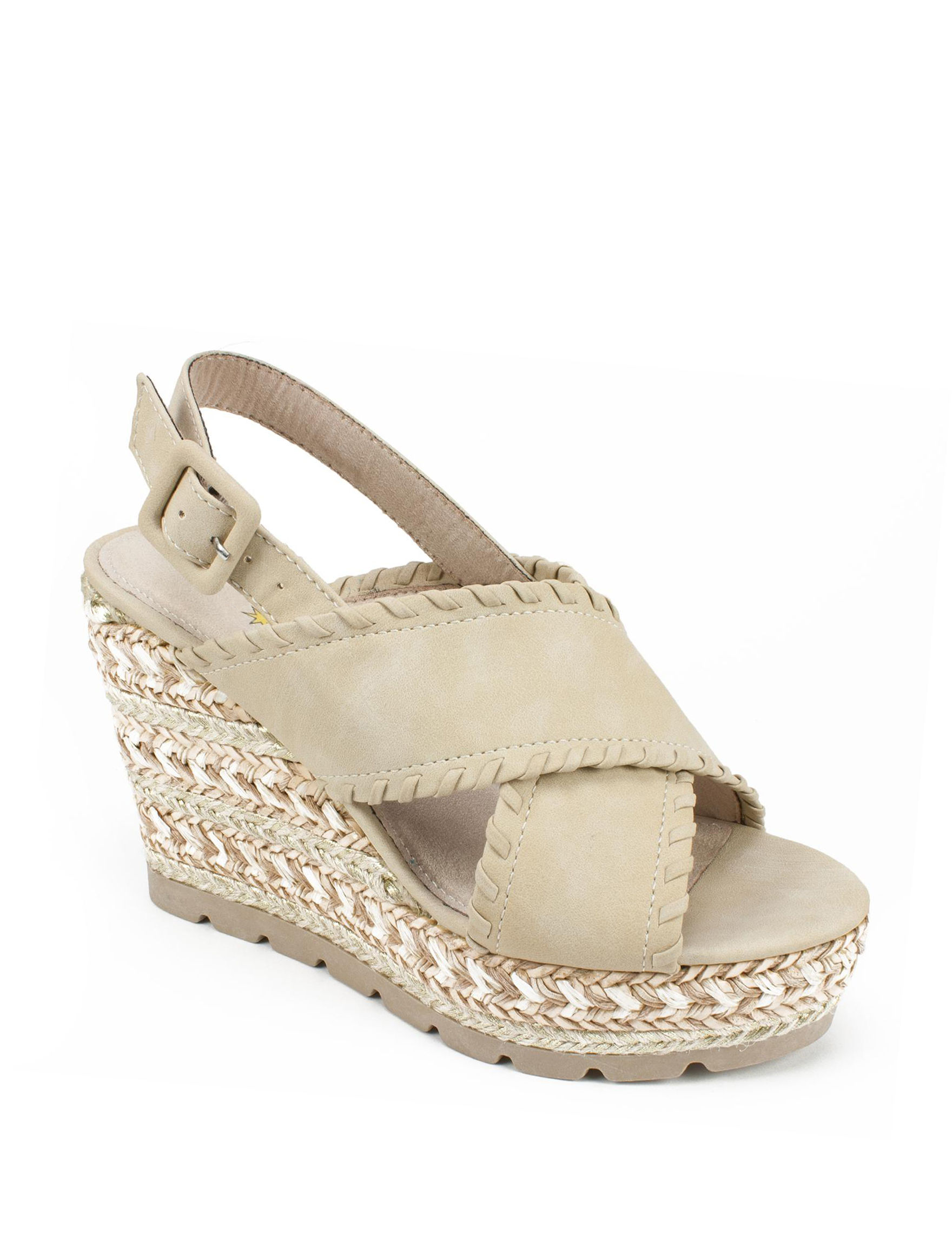 Seven Dials Natural Wedge Sandals