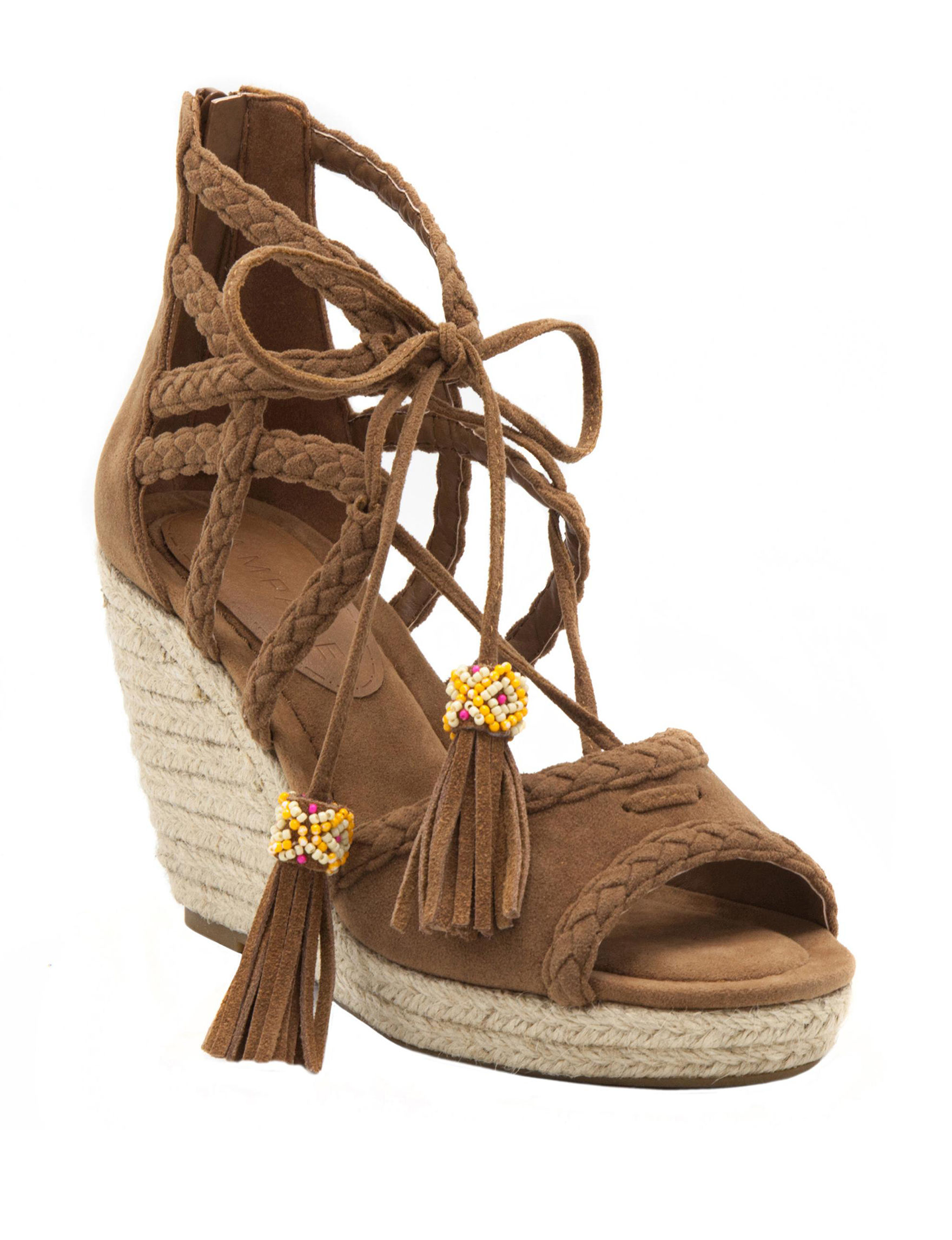 Rampage Tan Wedge Sandals