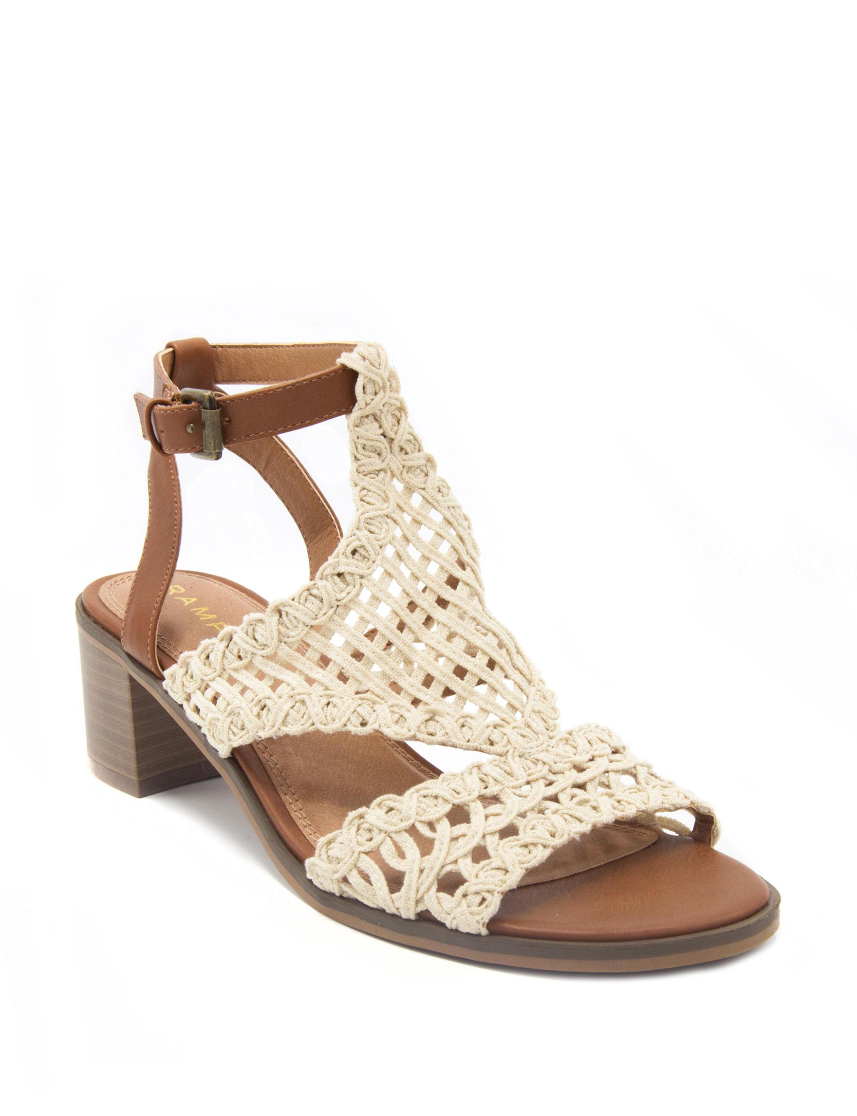 Rampage Cognac Heeled Sandals
