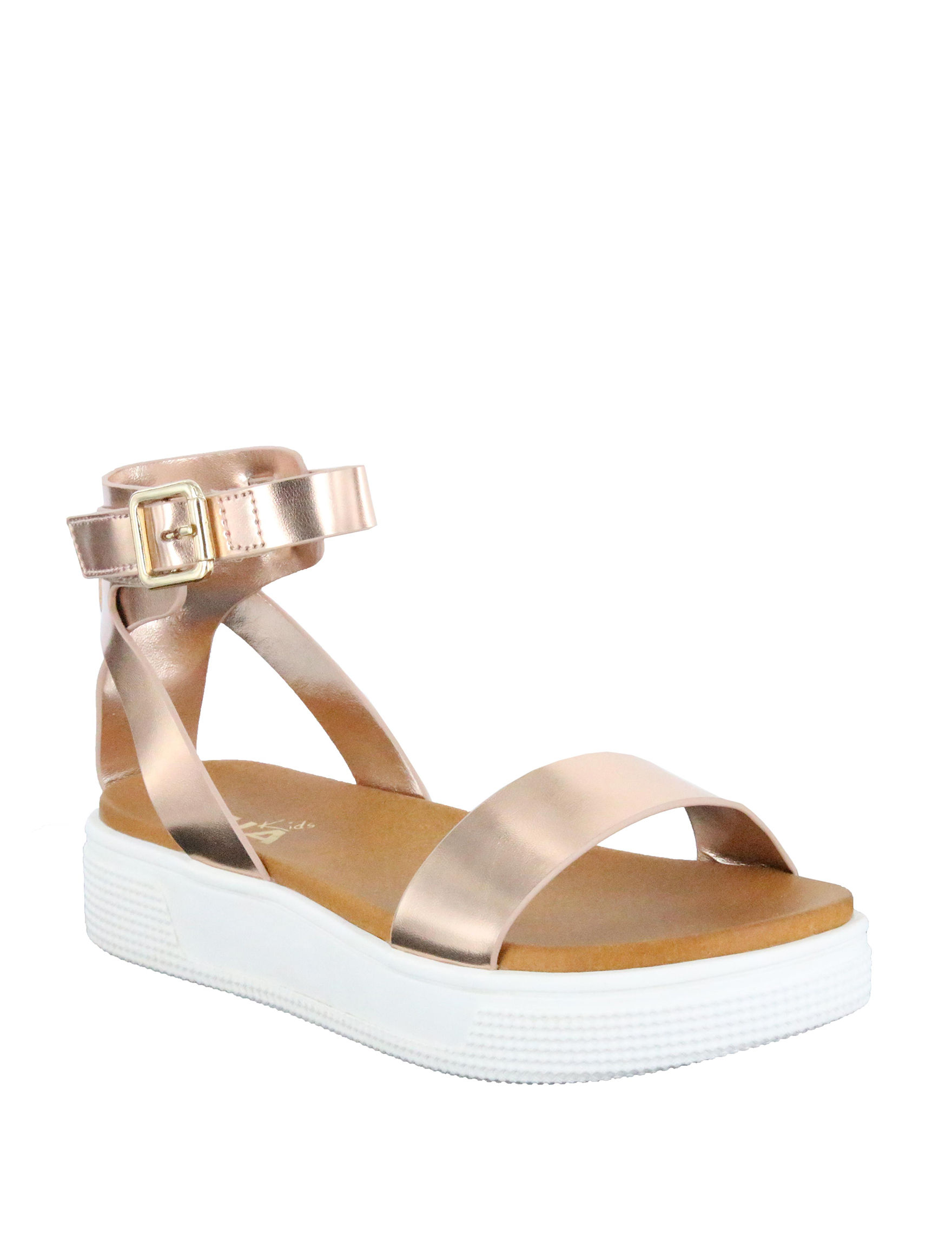 MIA Rose Gold Flat Sandals
