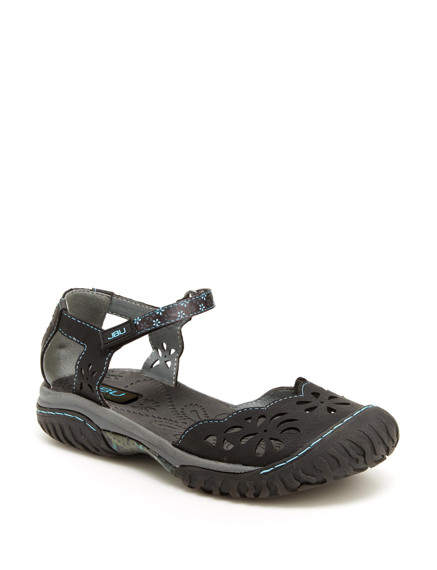 JBU Black Sport Sandals Comfort