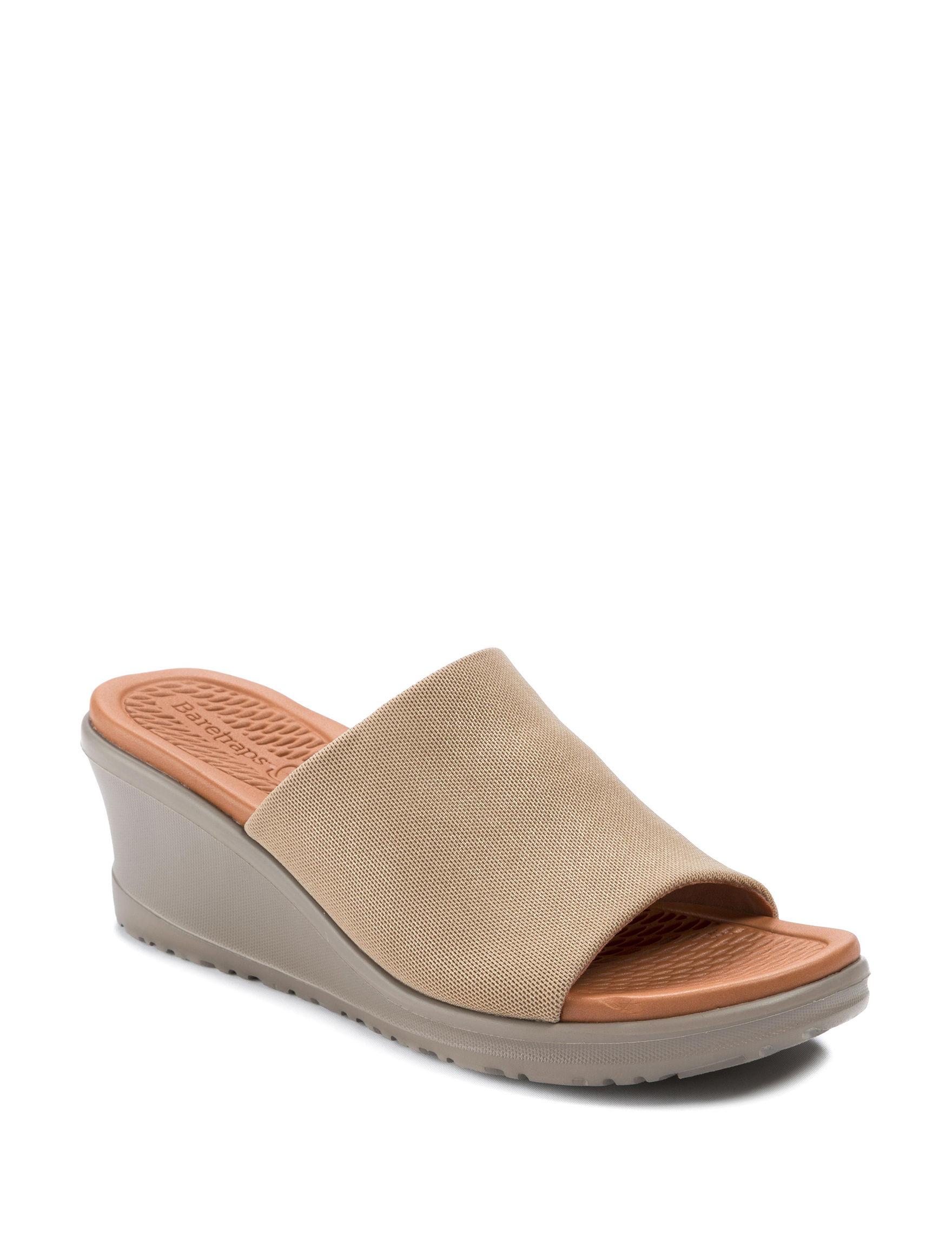 Bare Traps Gold Wedge Sandals Comfort