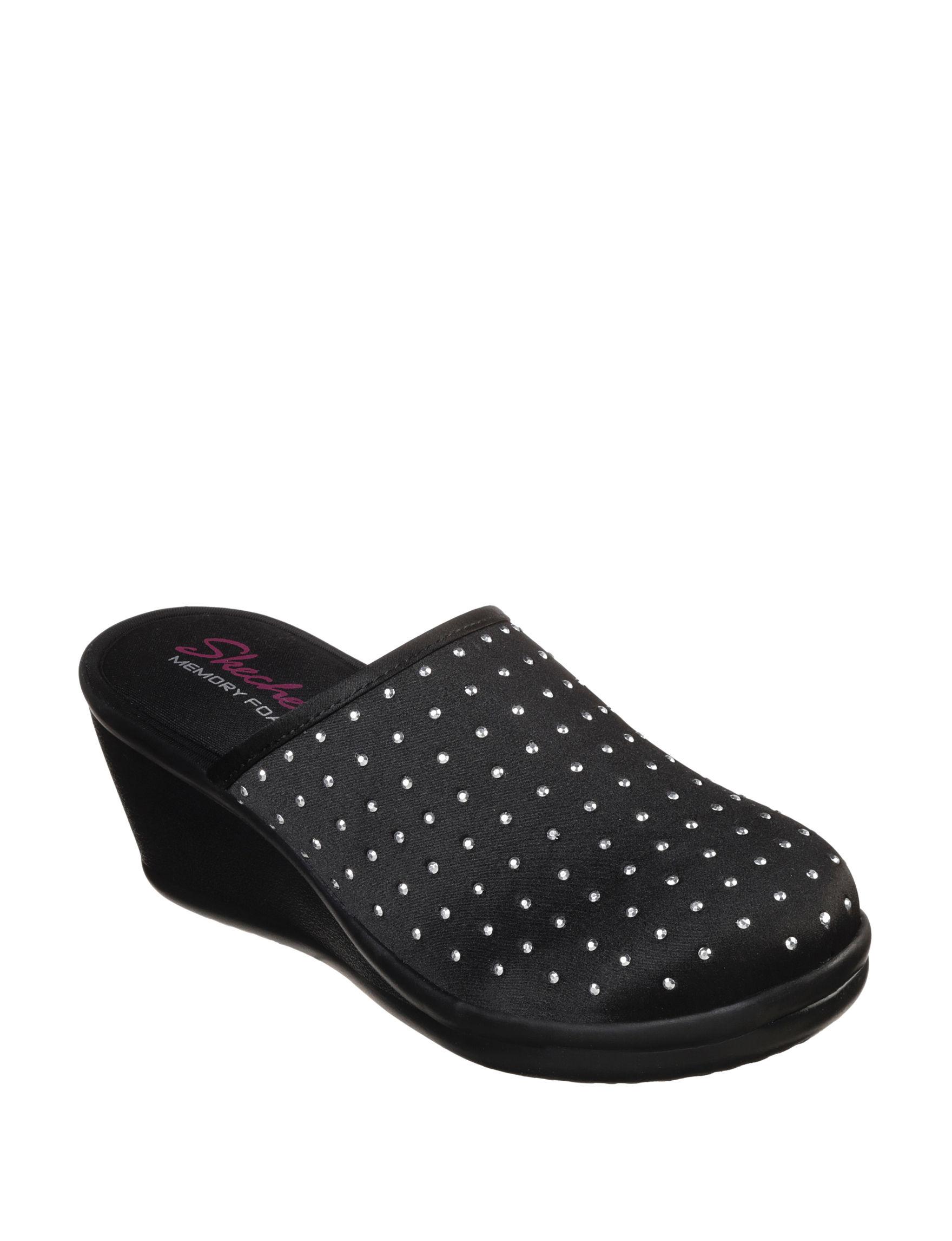 Skechers Black Clogs