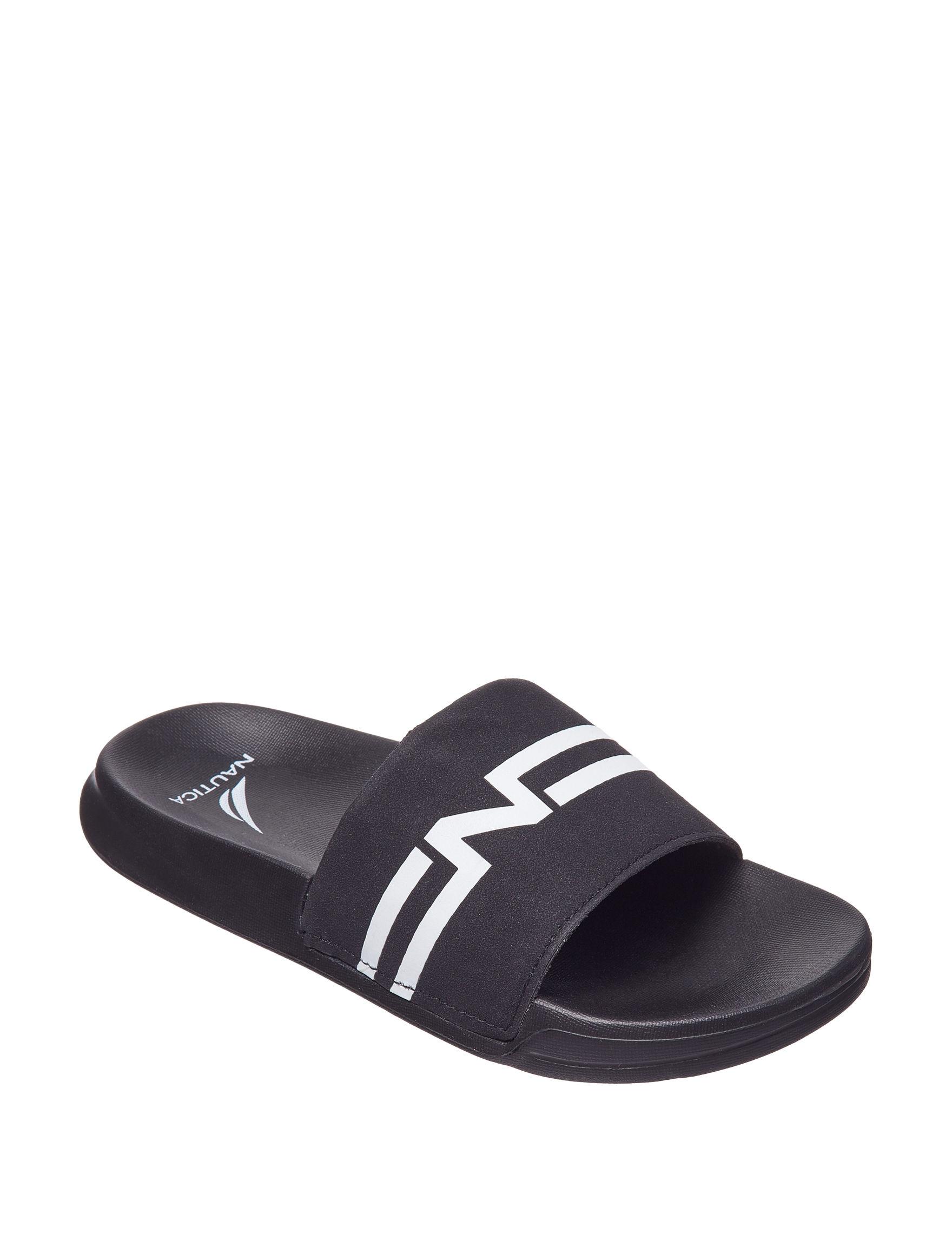 Nautica Black Flip Flops