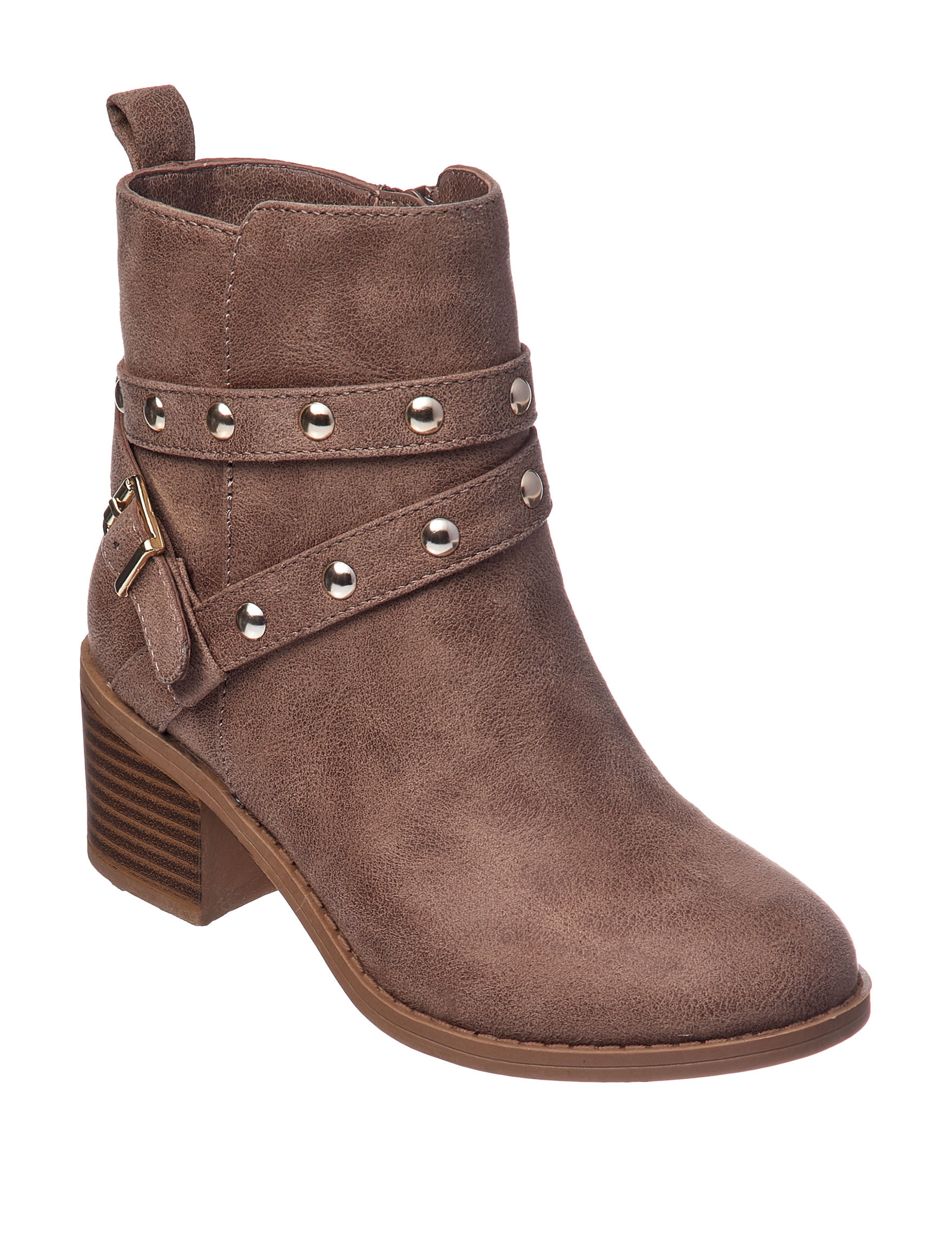 MIA Brown Ankle Boots & Booties Riding Boots