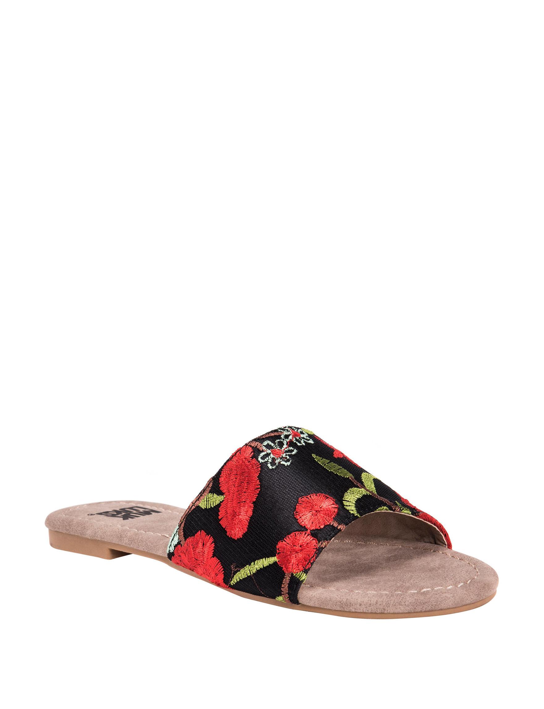 Muk Luks Multi Flat Sandals Slide Sandals
