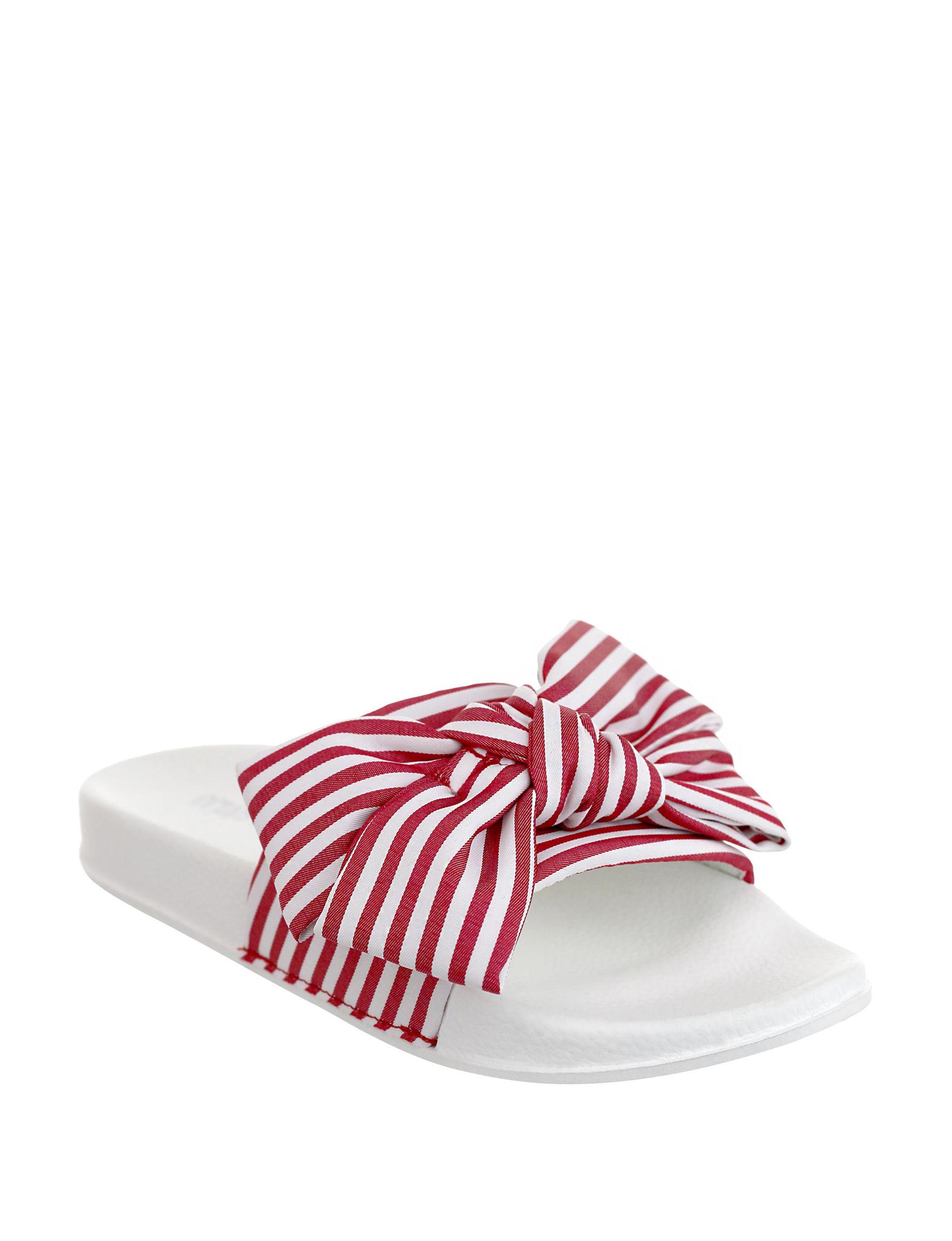 Olivia Miller Red Slide Sandals