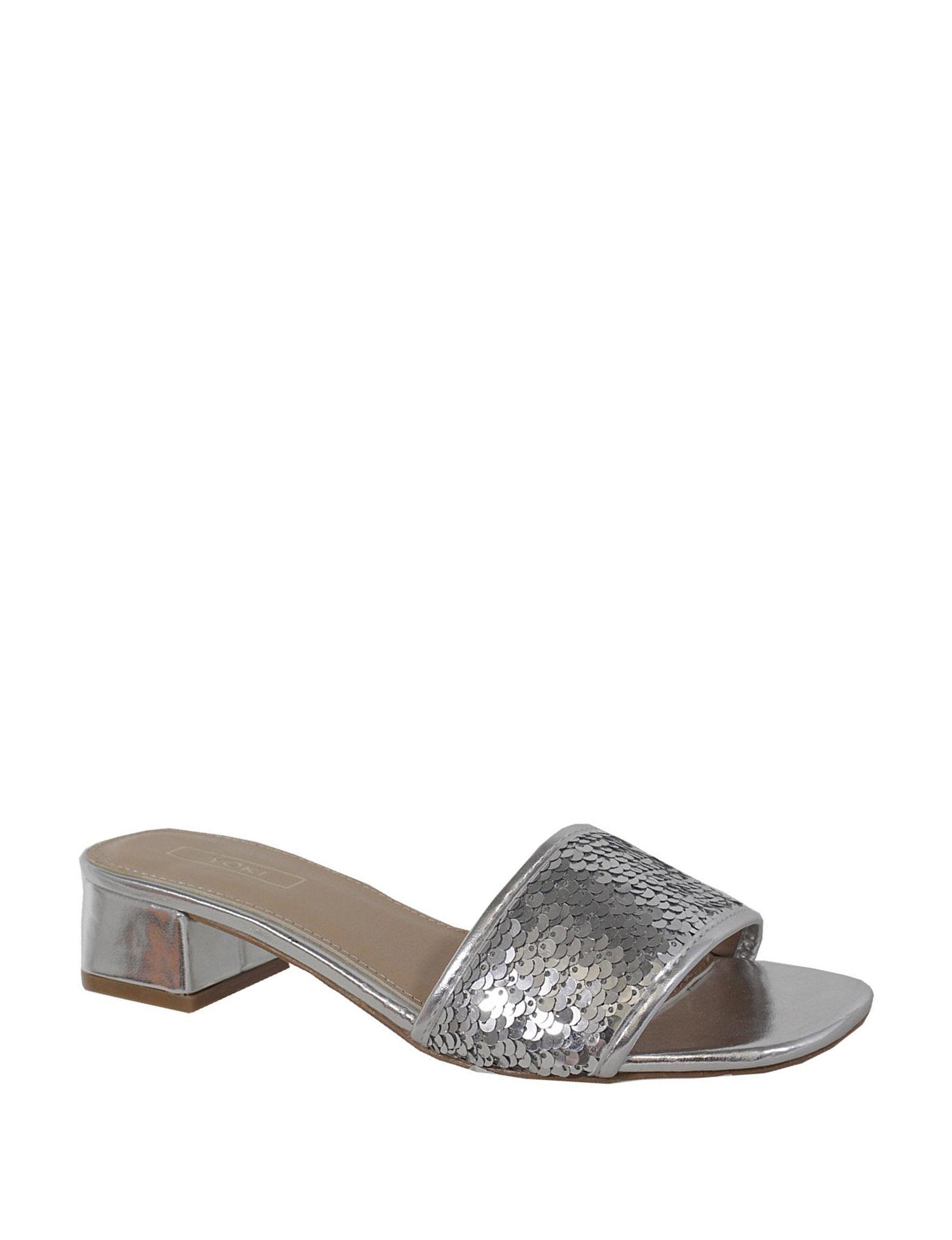 Yoki Silver Heeled Sandals