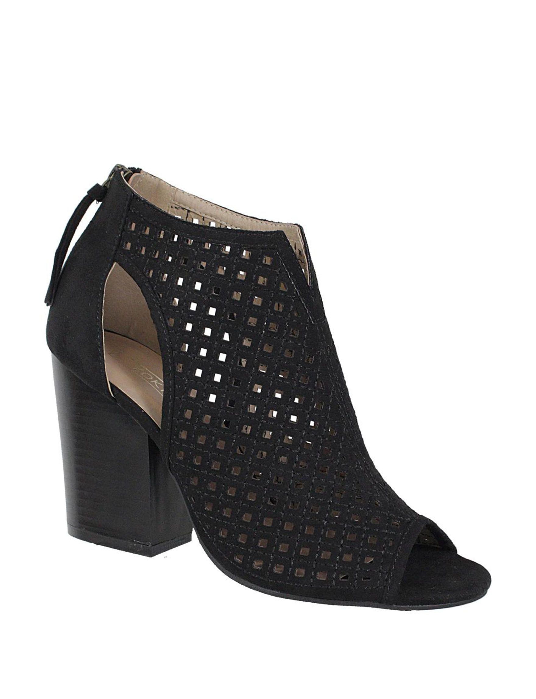 Yoki Black Ankle Boots & Booties