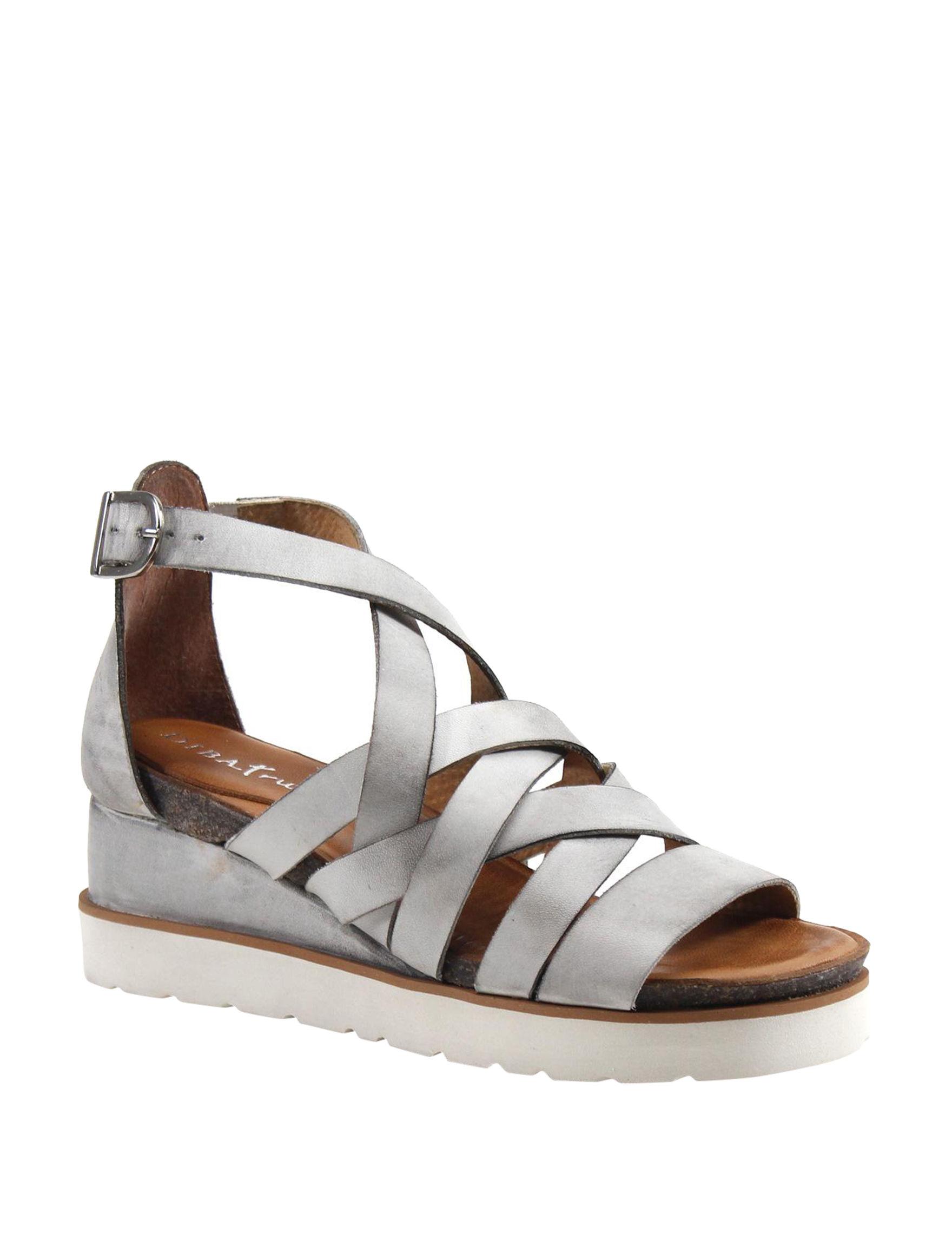 Diba True White Wedge Sandals