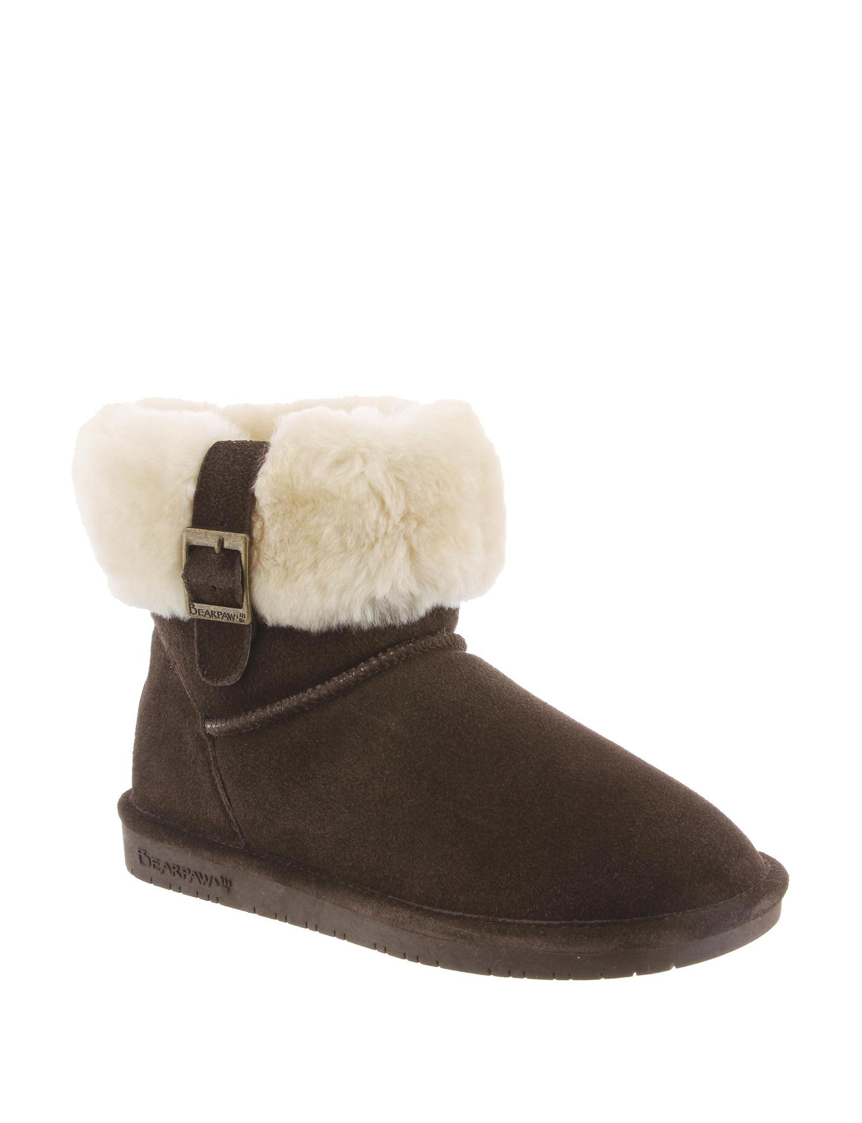 Bearpaw Dark Brown Ankle Boots & Booties Comfort Shoes Winter Boots