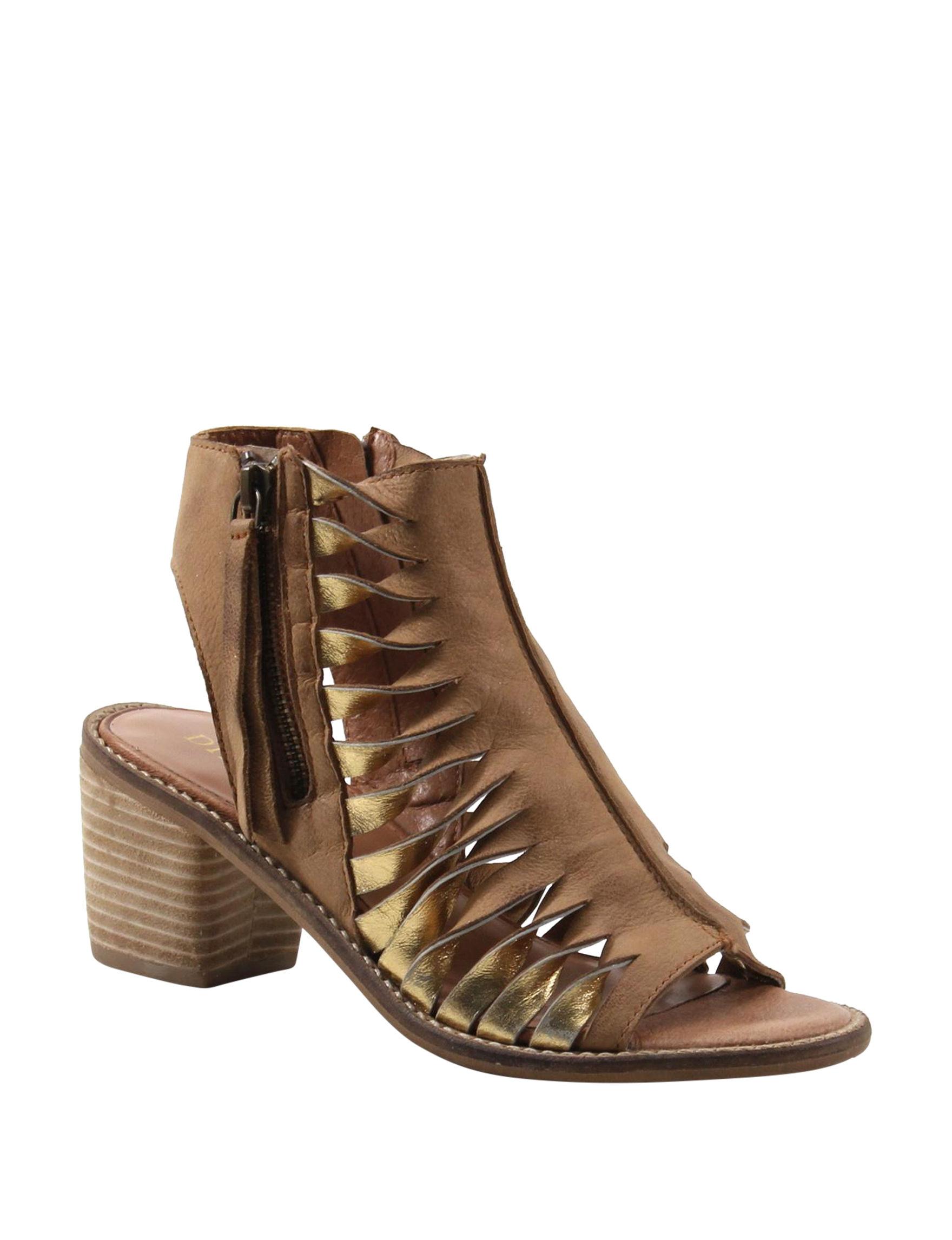 Diba True Tan Heeled Sandals
