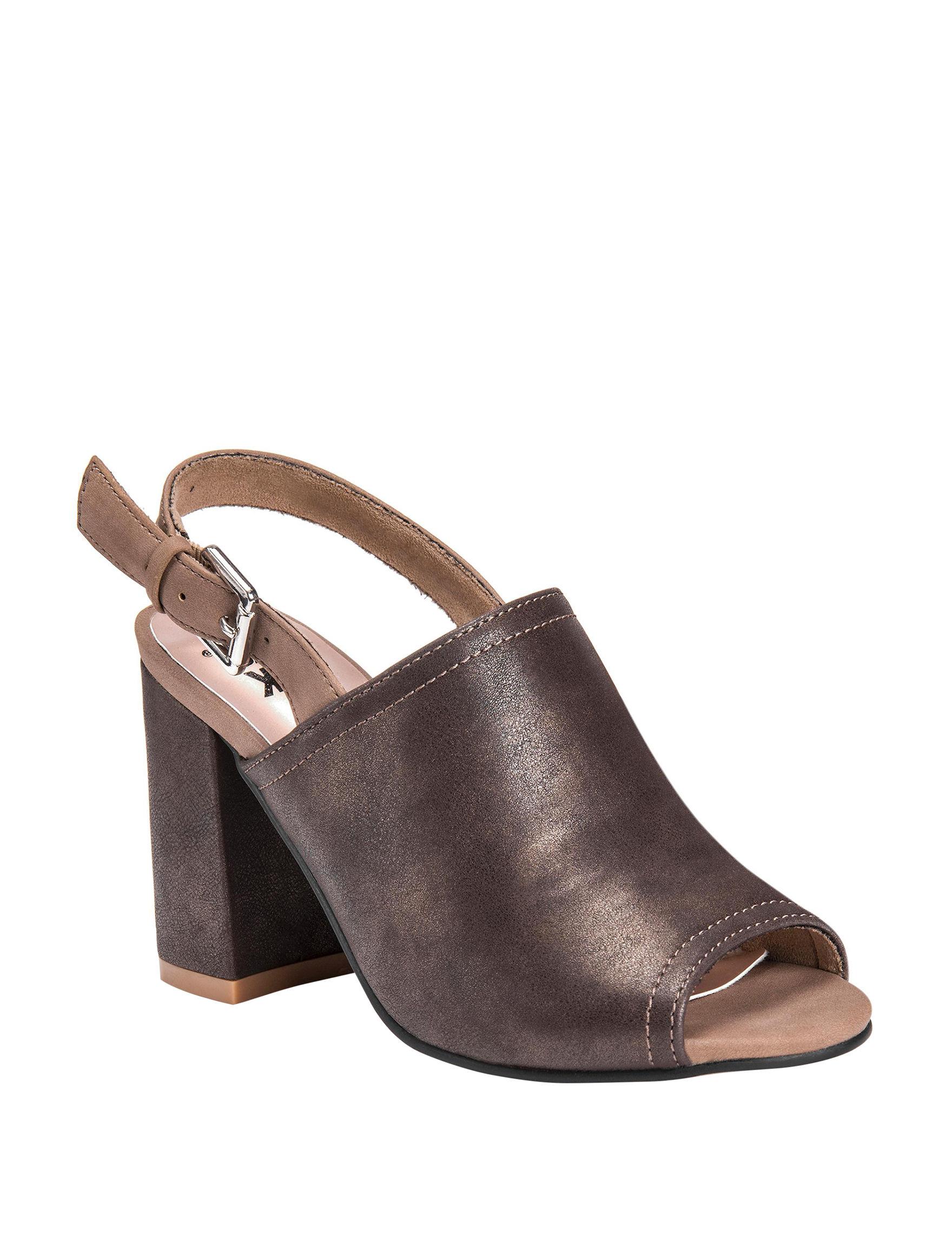Muk Luks Bronze Heeled Sandals