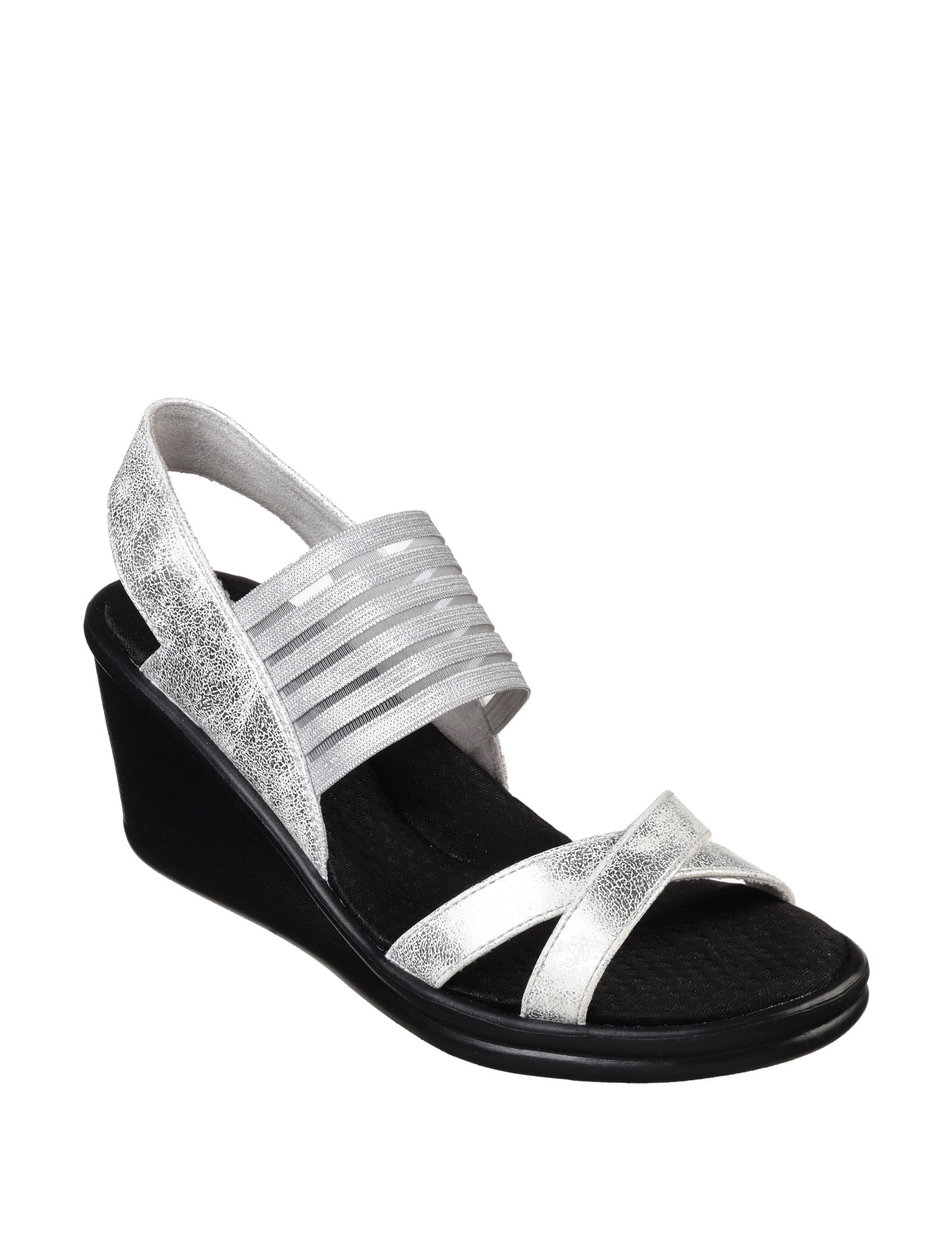 Skechers Silver Wedge Sandals