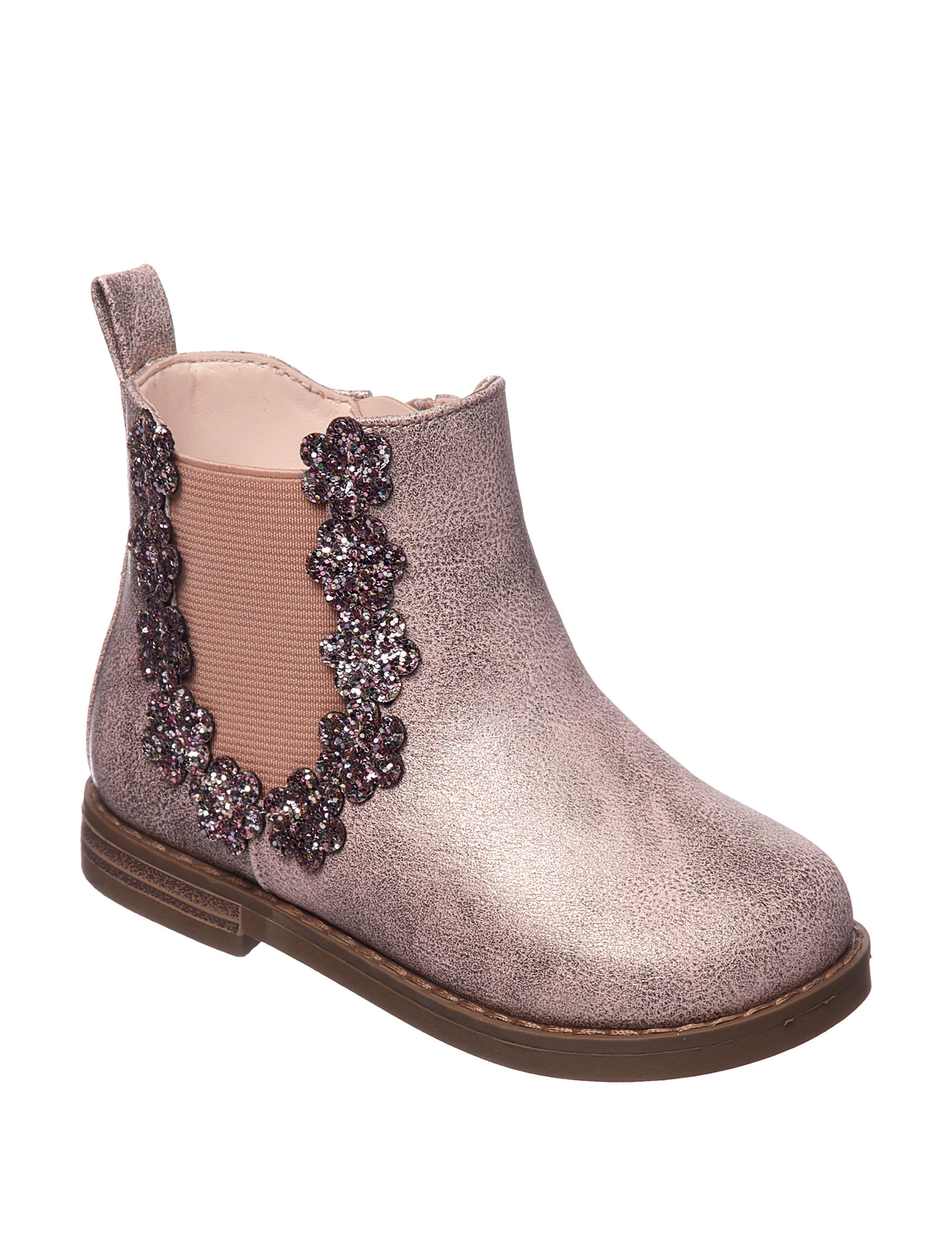 Rampage Rose Gold Ankle Boots & Booties