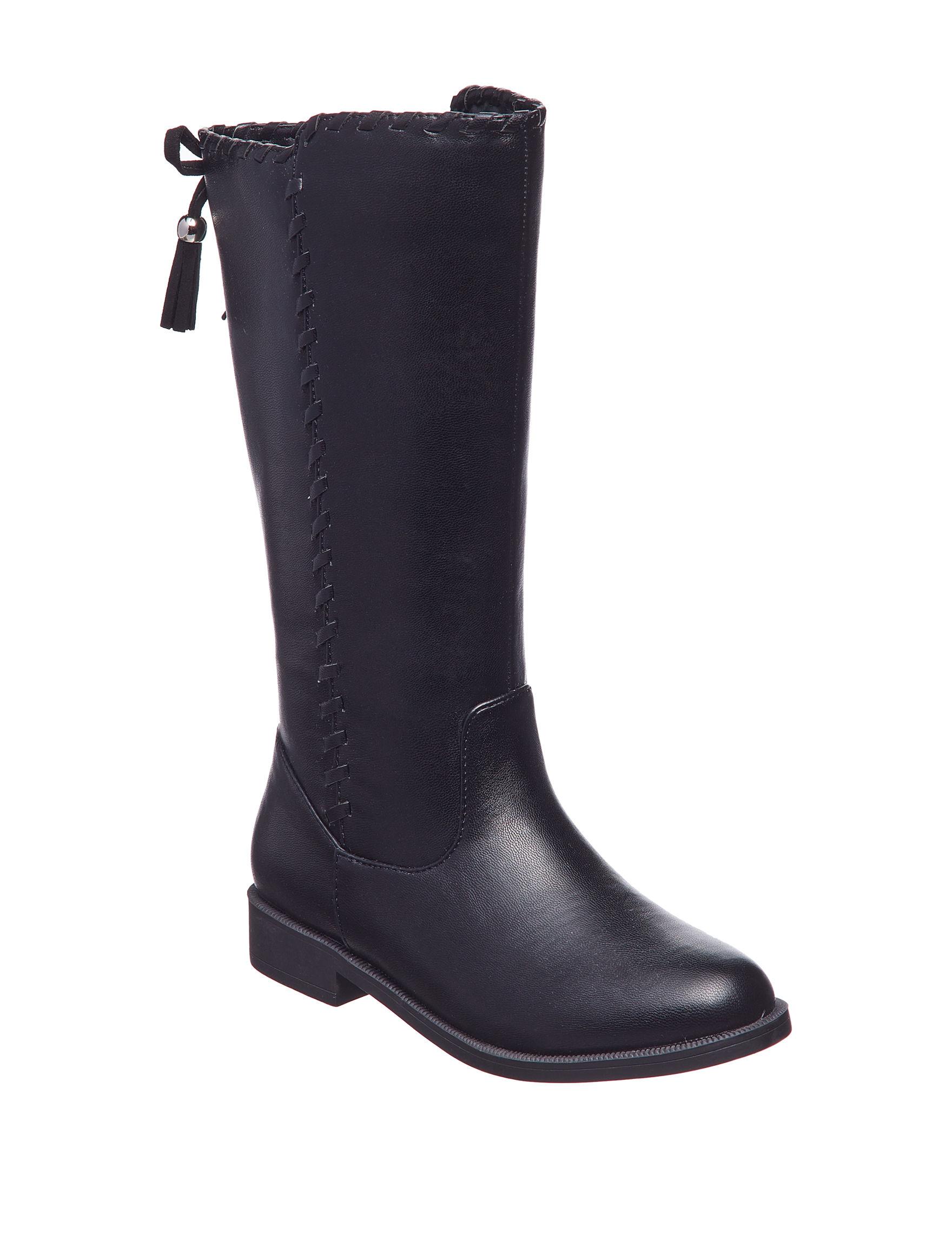 Sugar Black Riding Boots