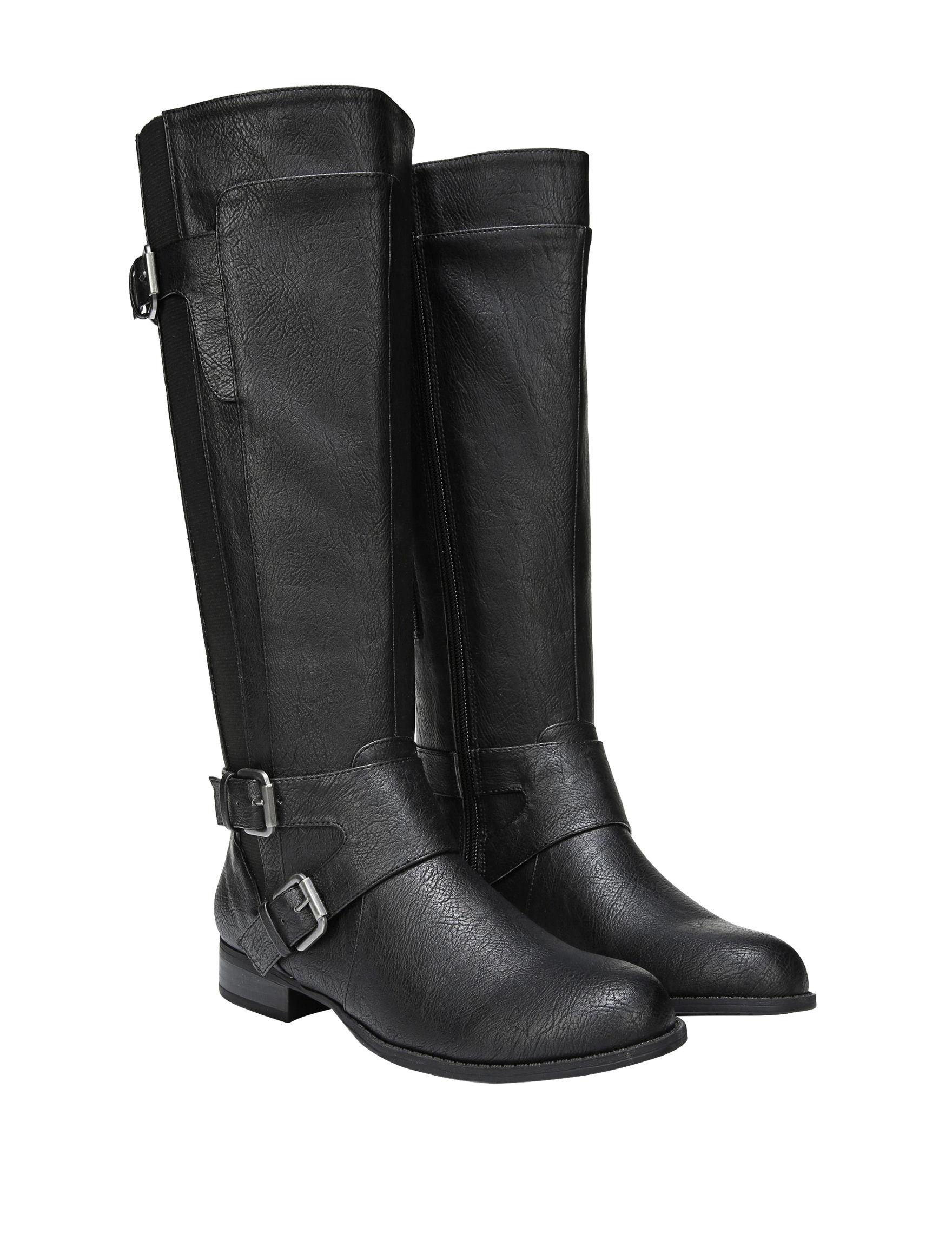 Lifestride Black Riding Boots Wide Calf