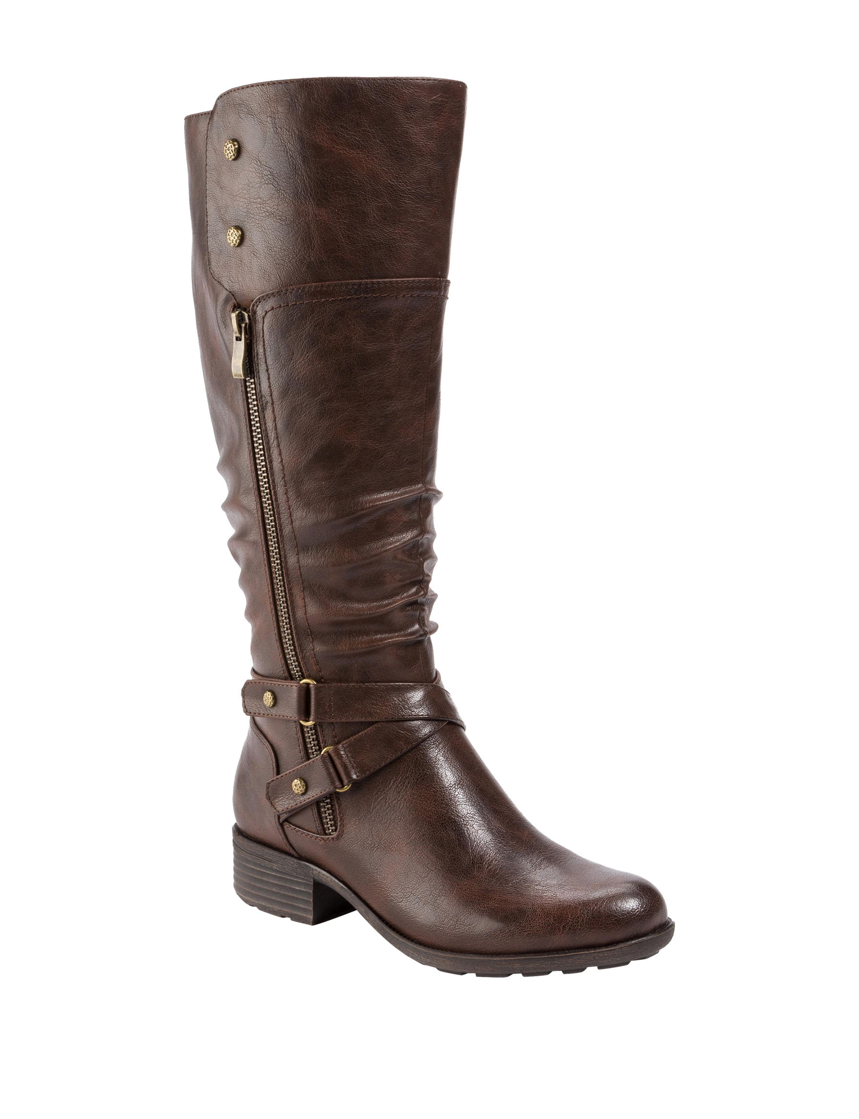 Wear. Ever. Brown Riding Boots Wide Calf