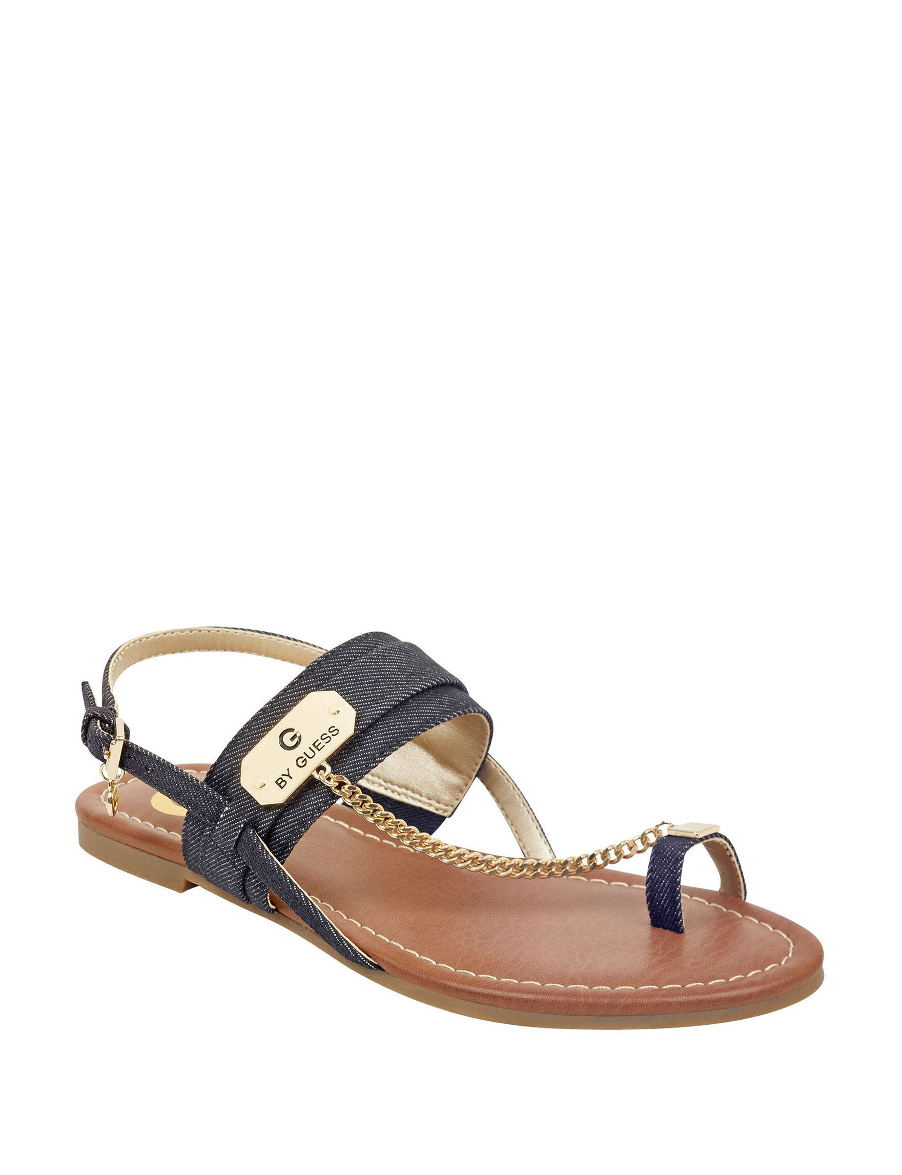 G by Guess Navy Flat Sandals