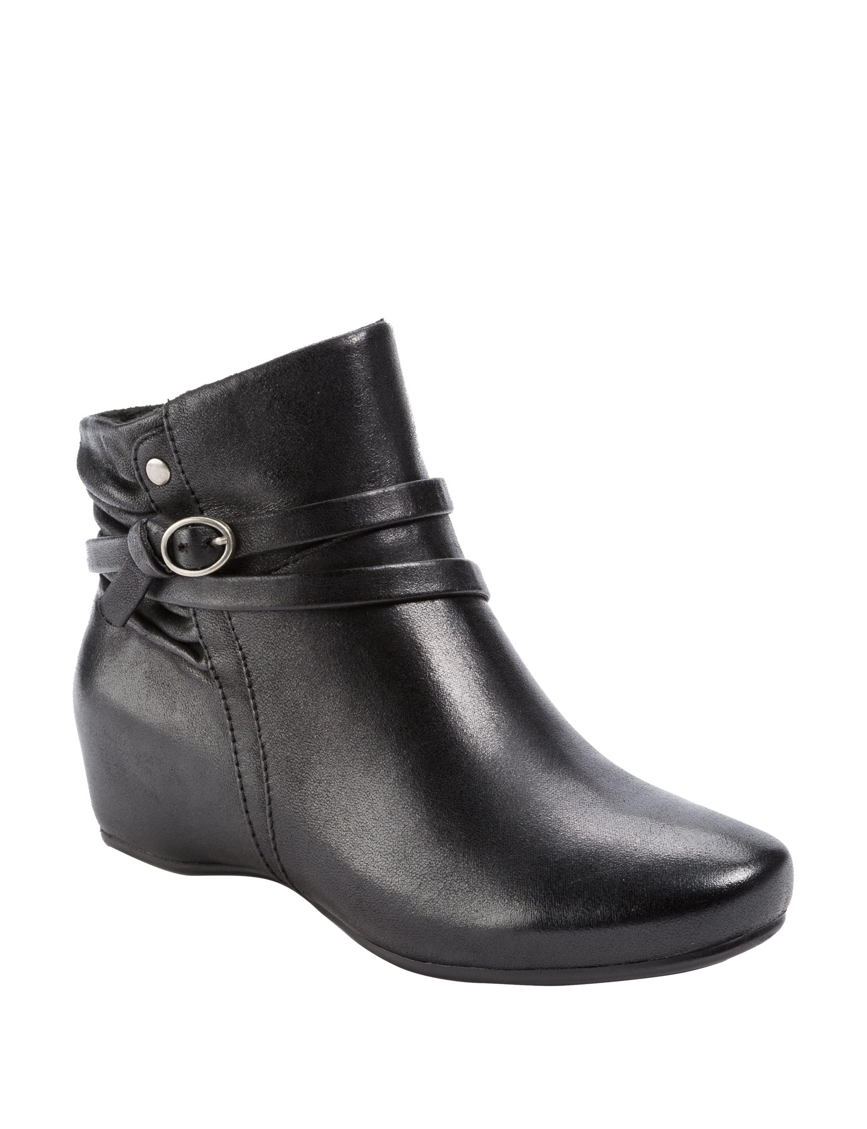 Baretraps Black Ankle Boots & Booties Comfort Shoes Wedge Boots