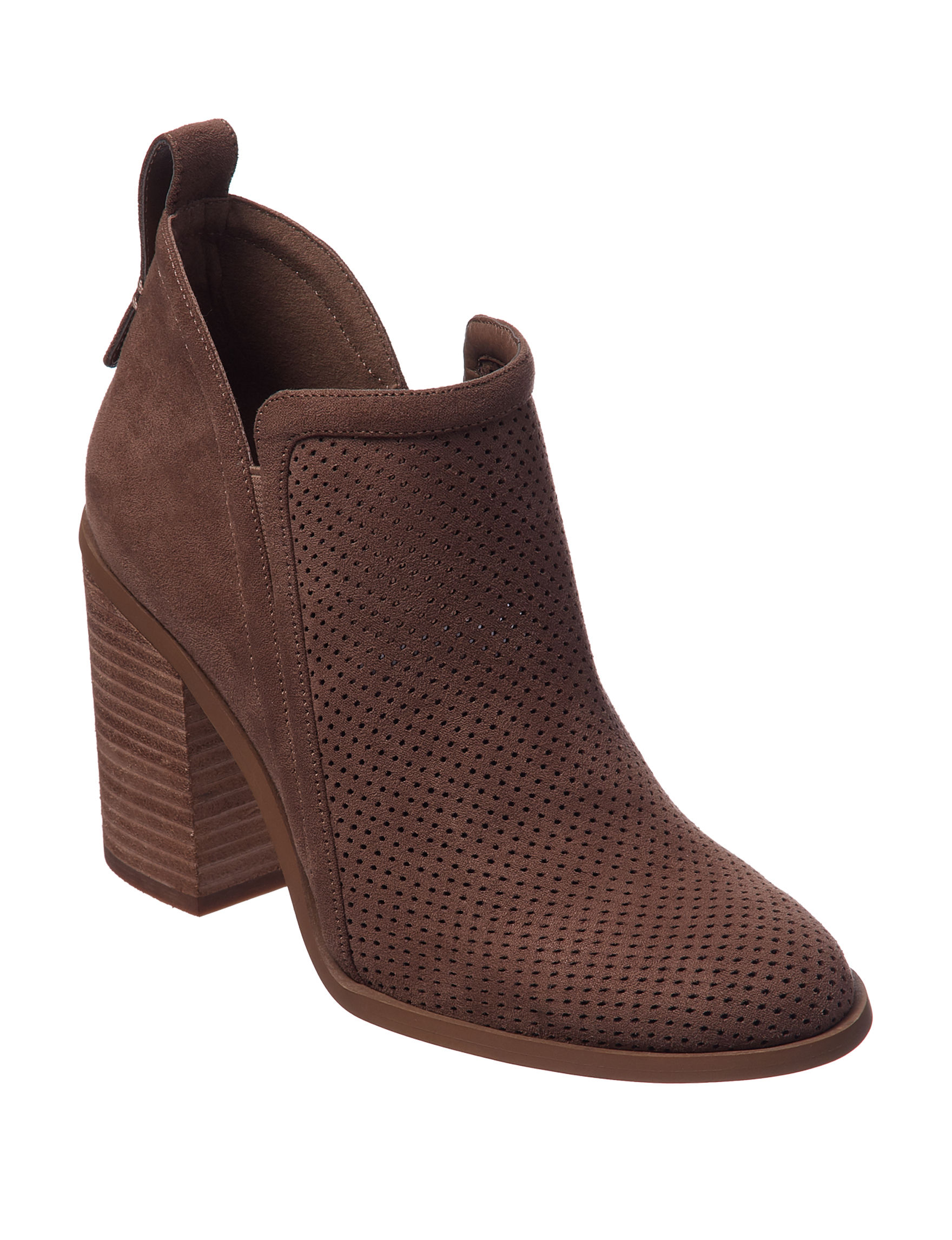 Madden Girl Taupe Ankle Boots & Booties