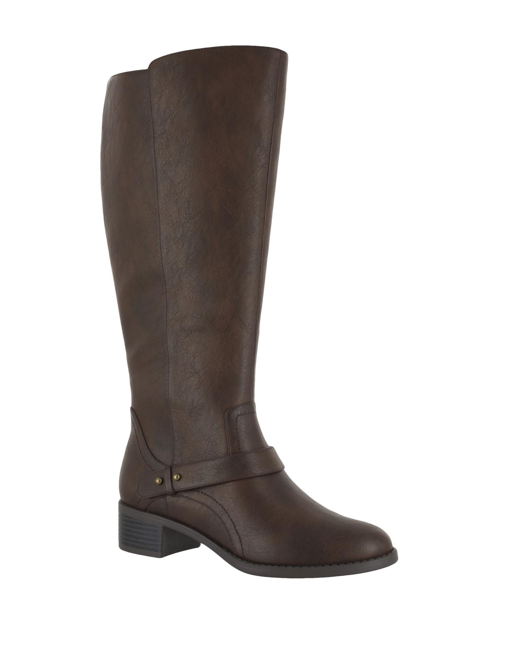Easy Street Brown Riding Boots Wide Calf