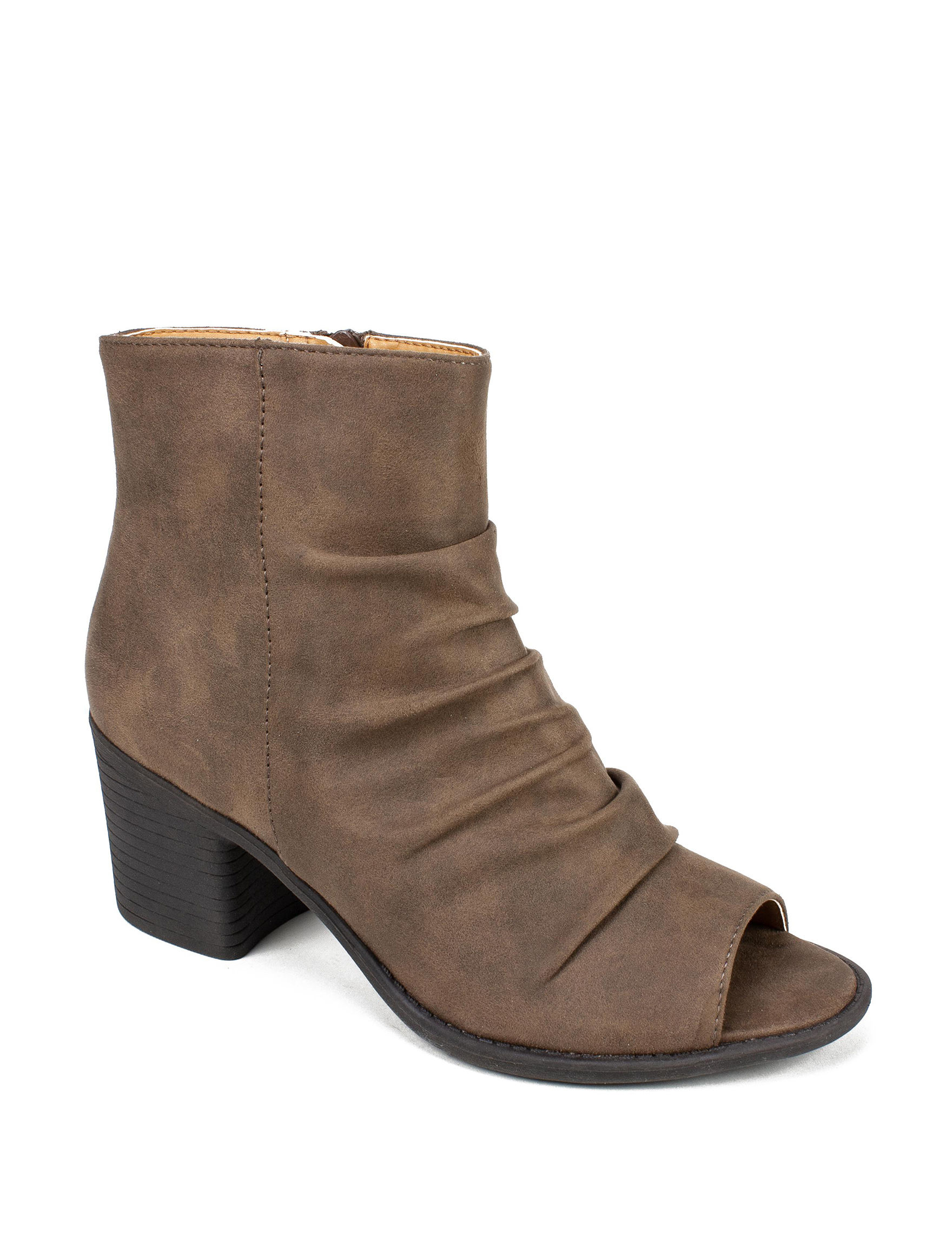 Seven Dials Brown Ankle Boots & Booties Peep Toe
