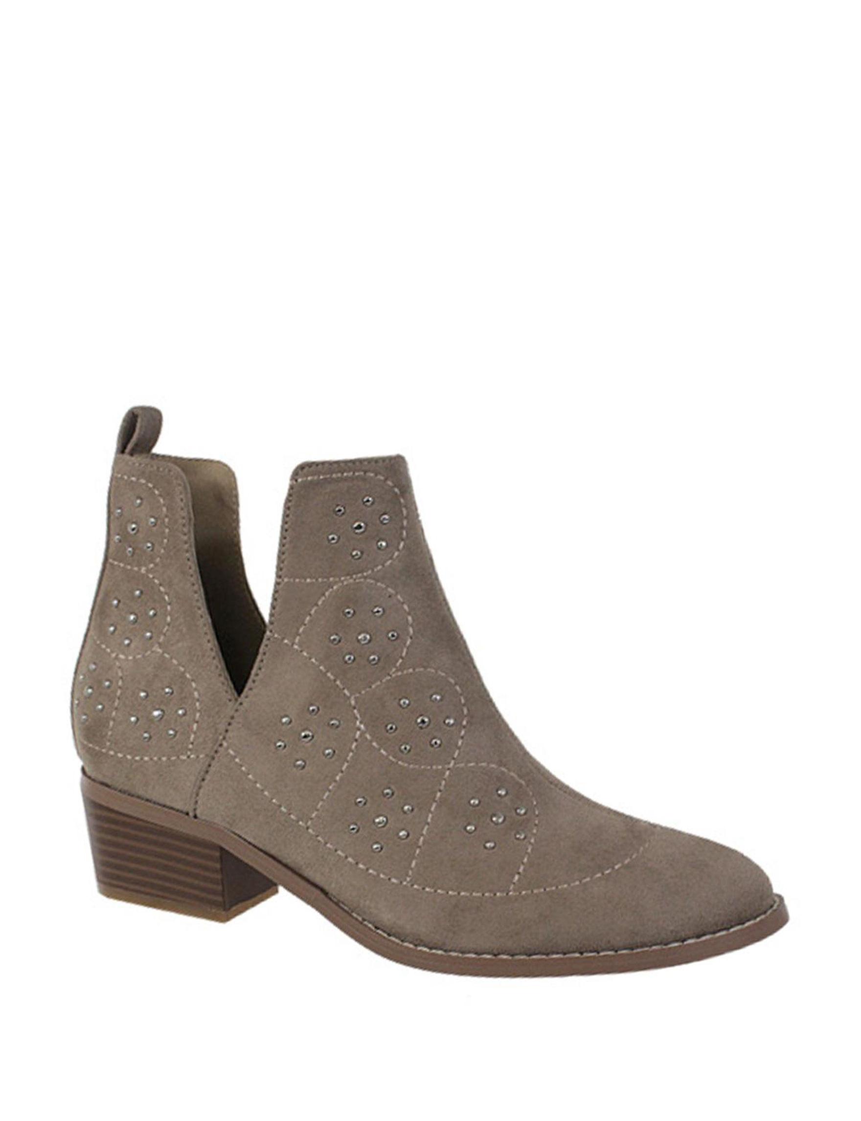 Yoki Beige Ankle Boots & Booties