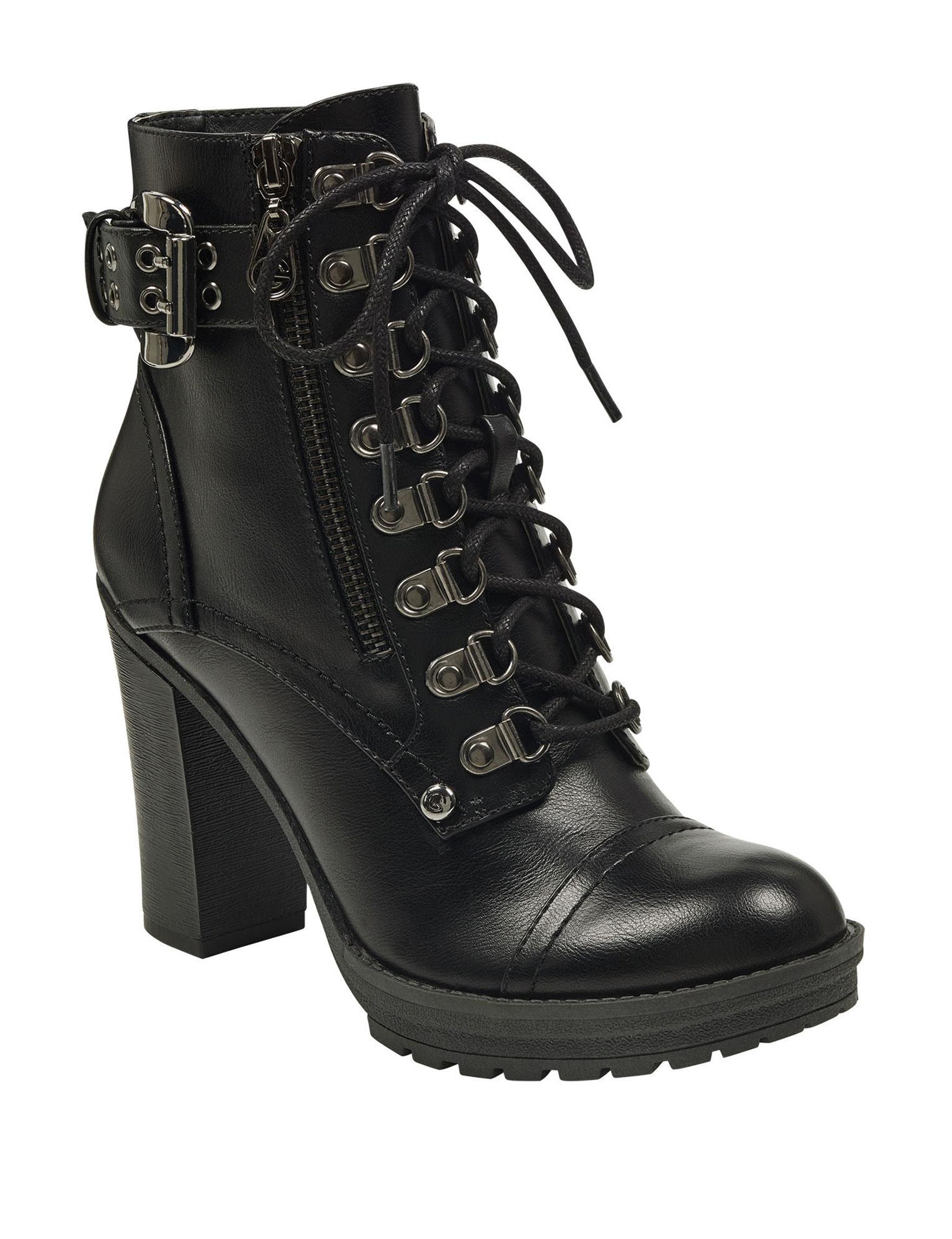 G by Guess Black Motorcycle Boots