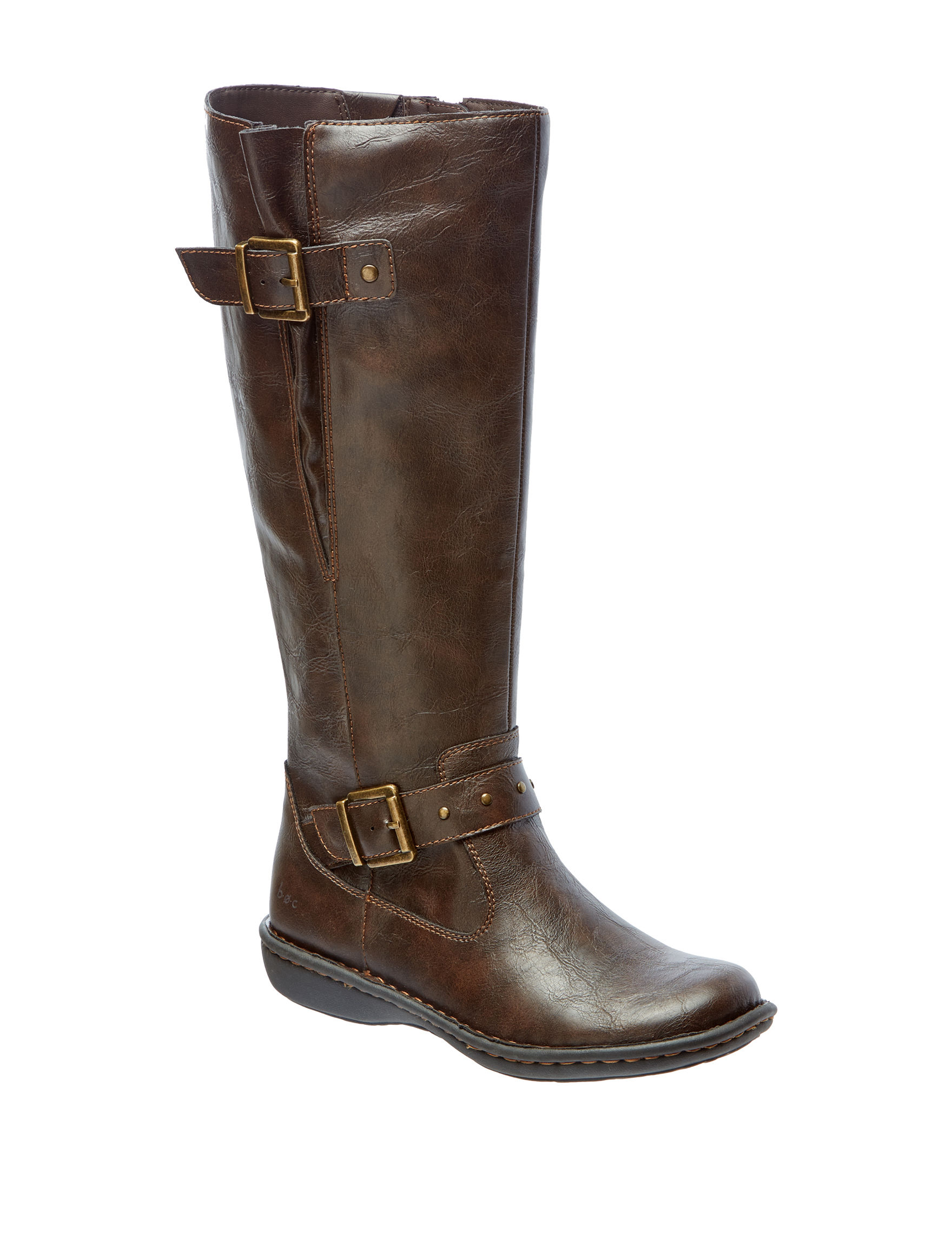 B.O.C. Brown Riding Boots Wide Calf