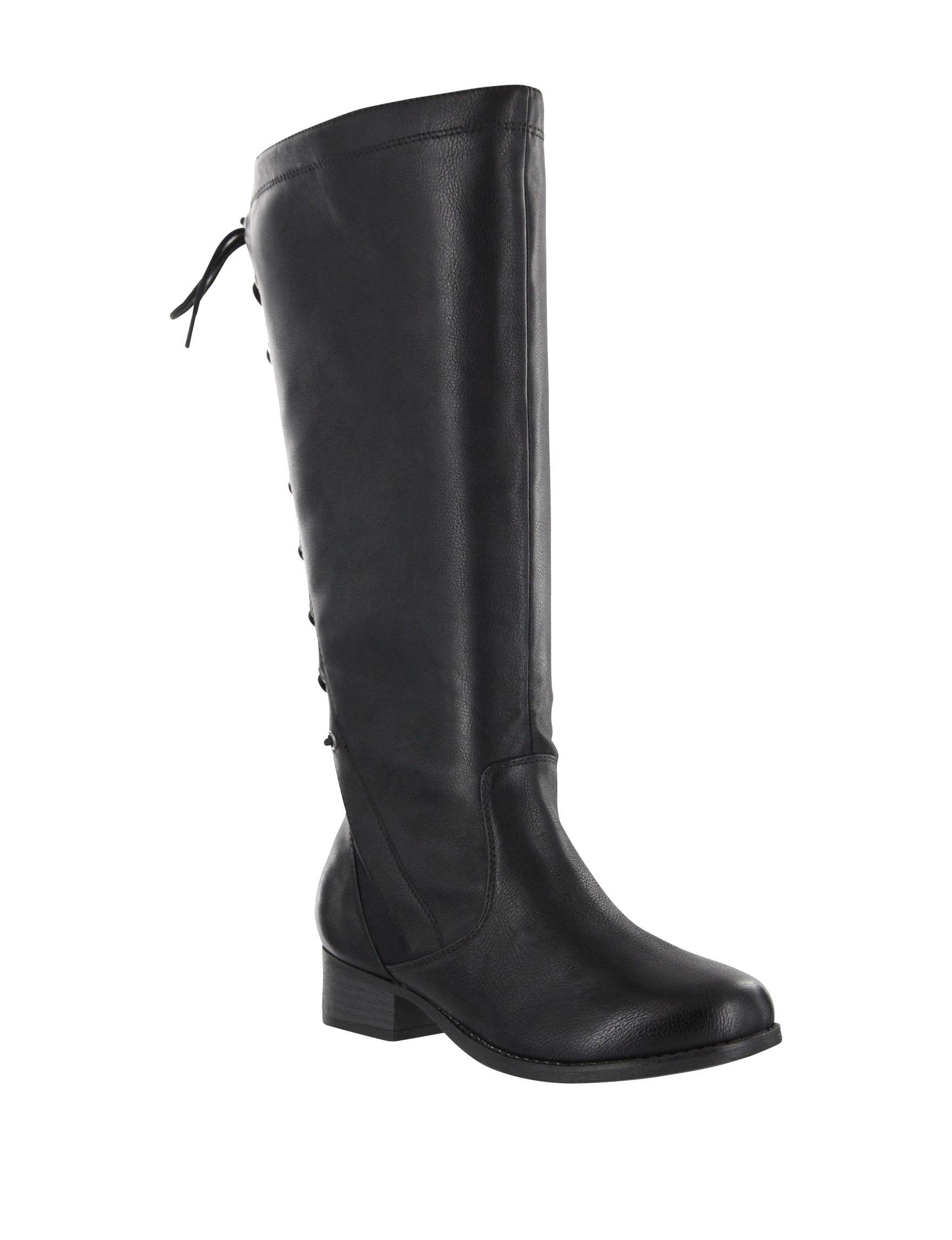 Mia Amore Black Riding Boots Wide Calf