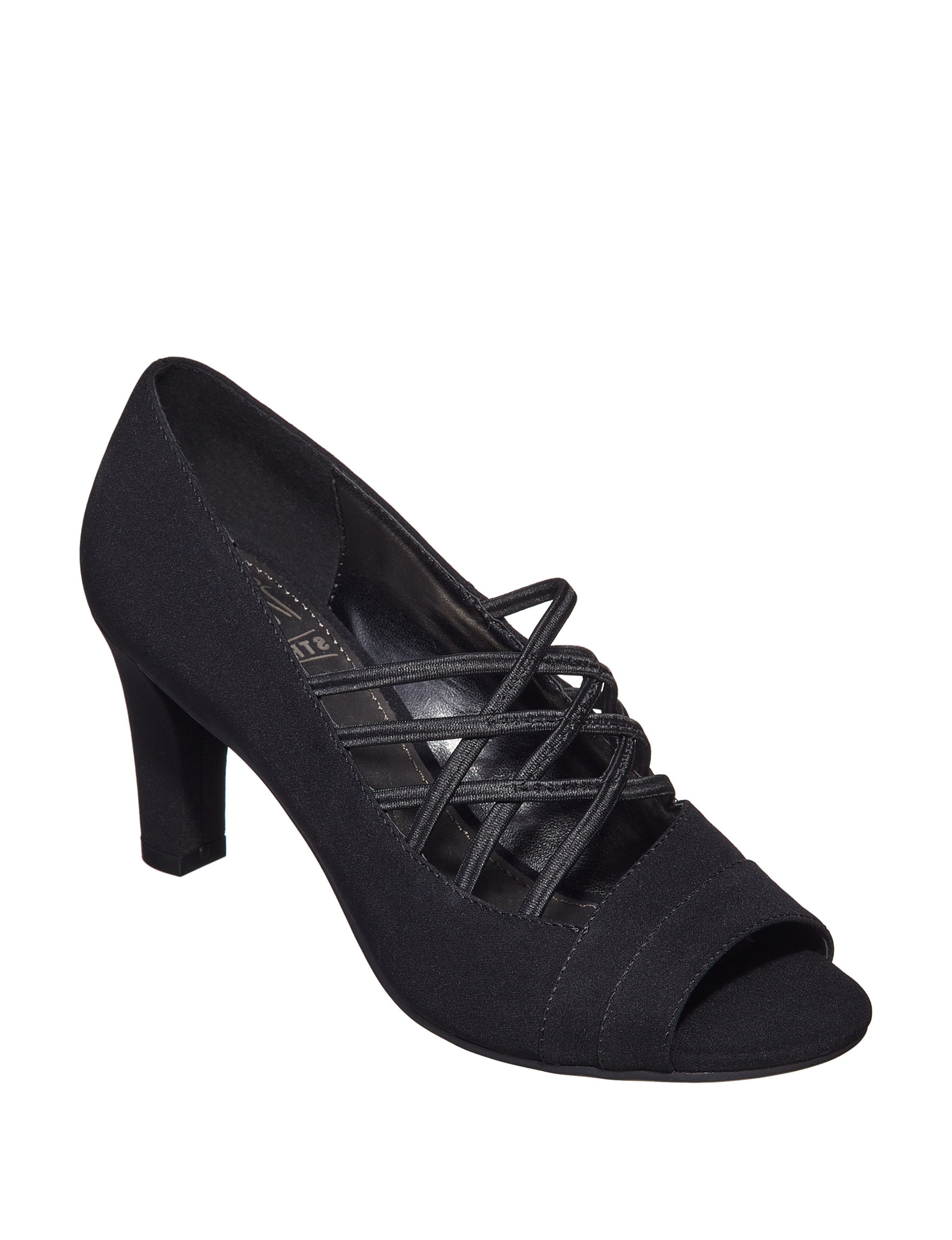 IMPO Black Peep Toe