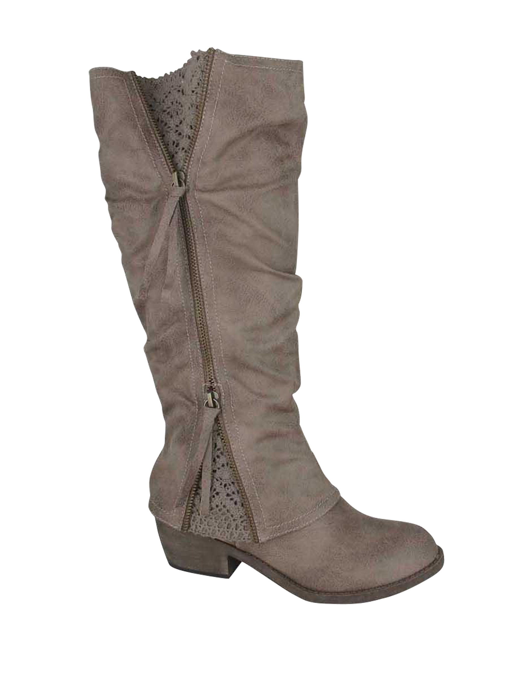 Jellypop Taupe Riding Boots