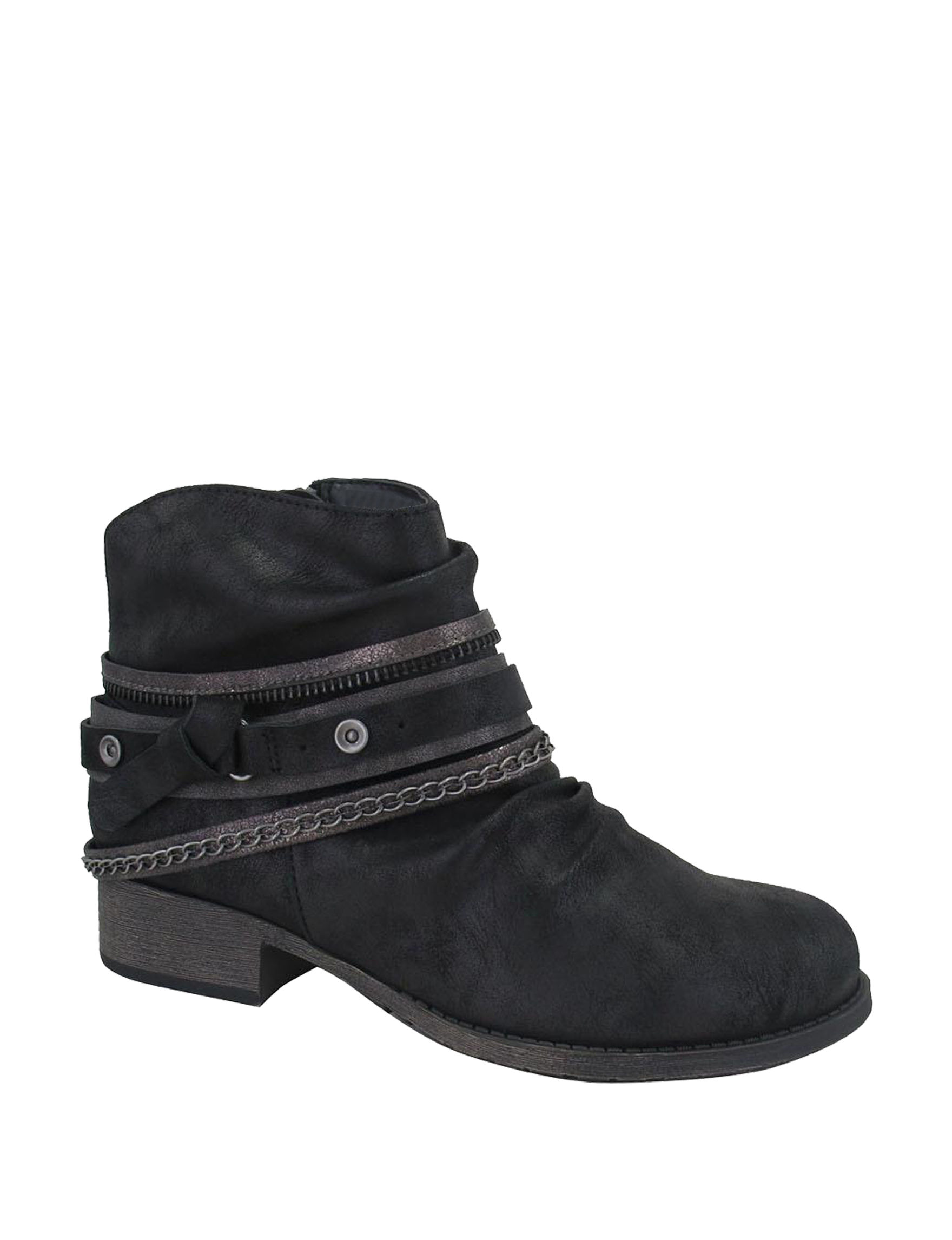 Jellypop Black Ankle Boots & Booties