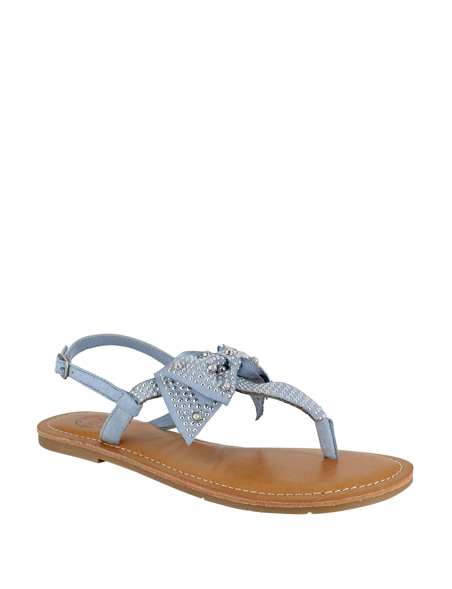Dolce by Mojo Moxy Light Blue Flat Sandals