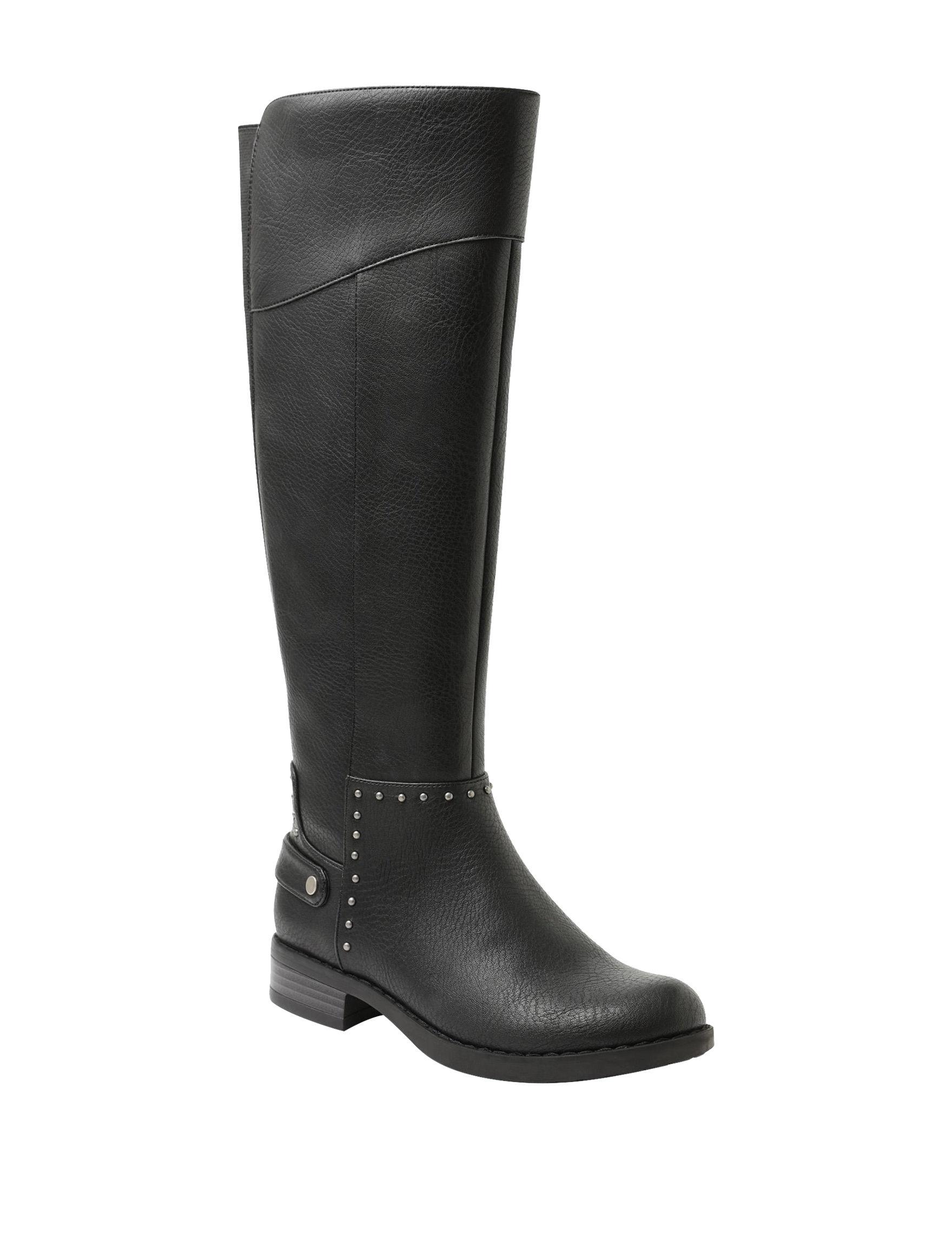 XOXO Black Riding Boots